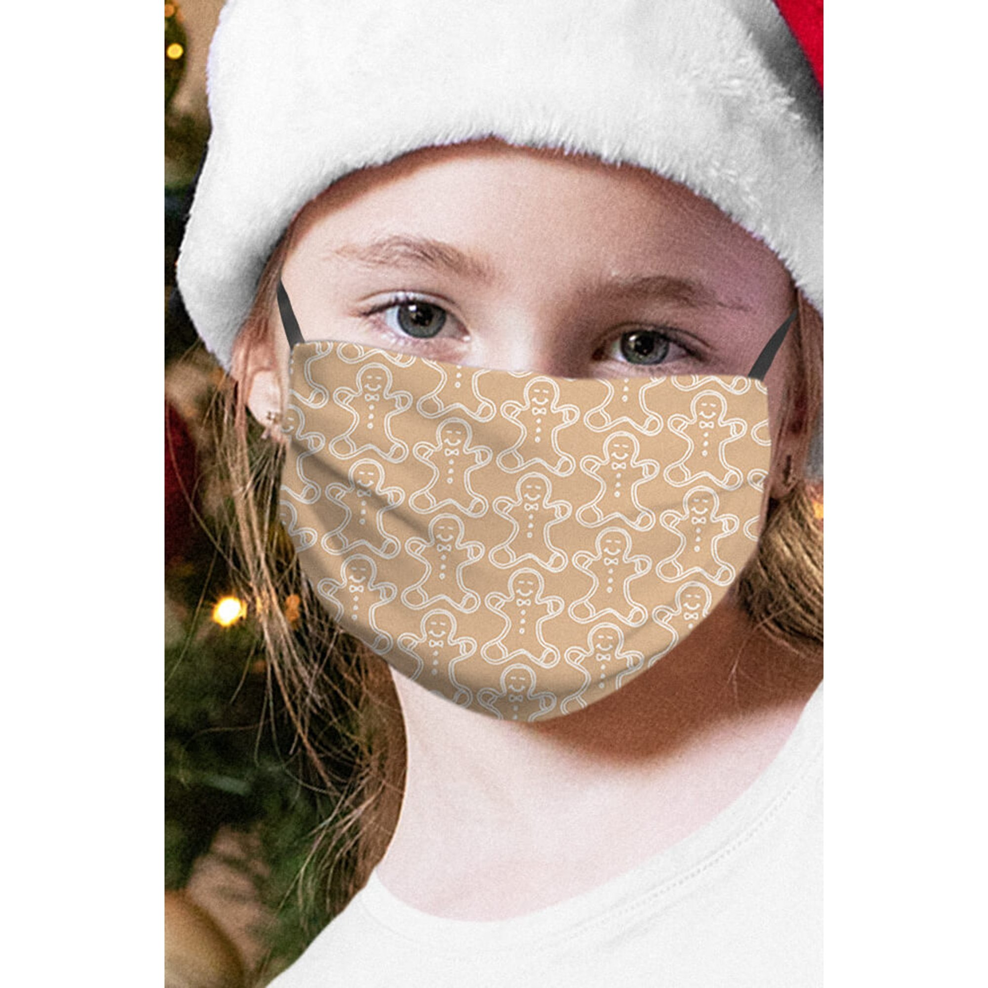 Image of Christmas Gingerbread Childrens Face Mask