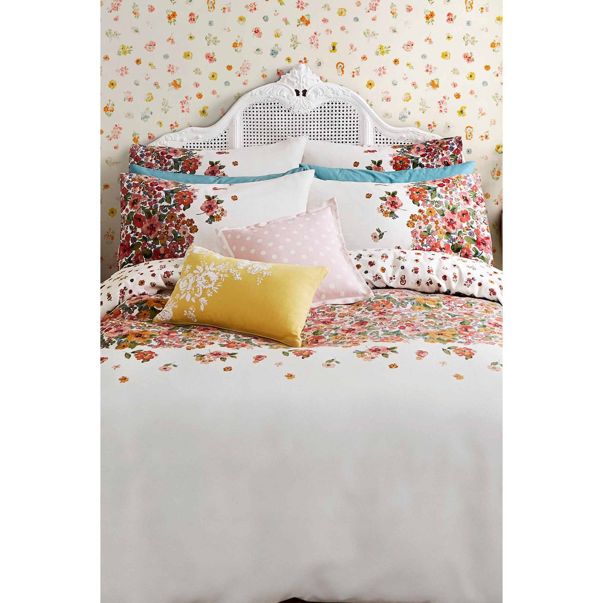 Cath Kidston Painted Bloom Pair Of Pillowcases