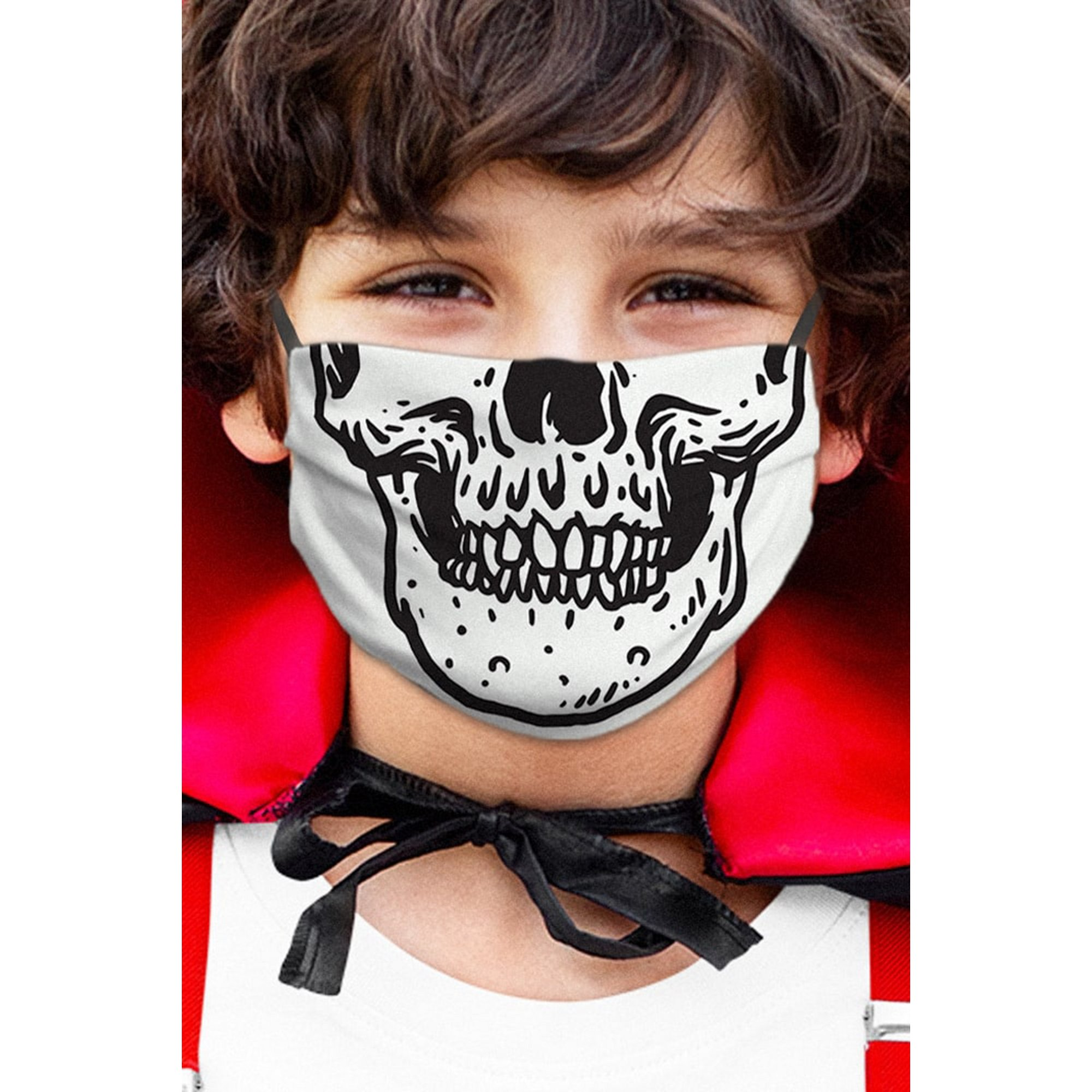 Image of Halloween Skull Childs Face Mask