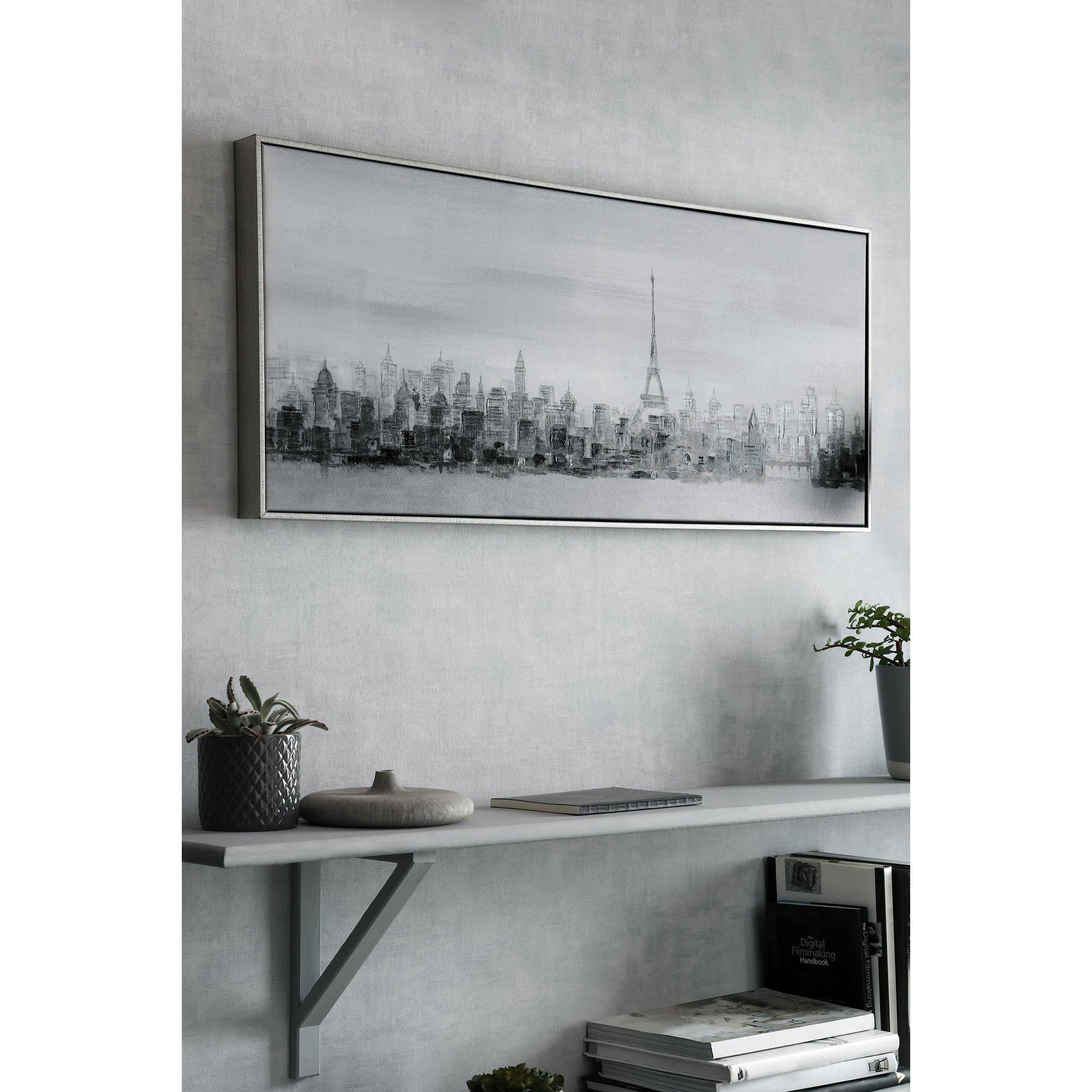 Image of Bonne Nuit Paris Framed Canvas