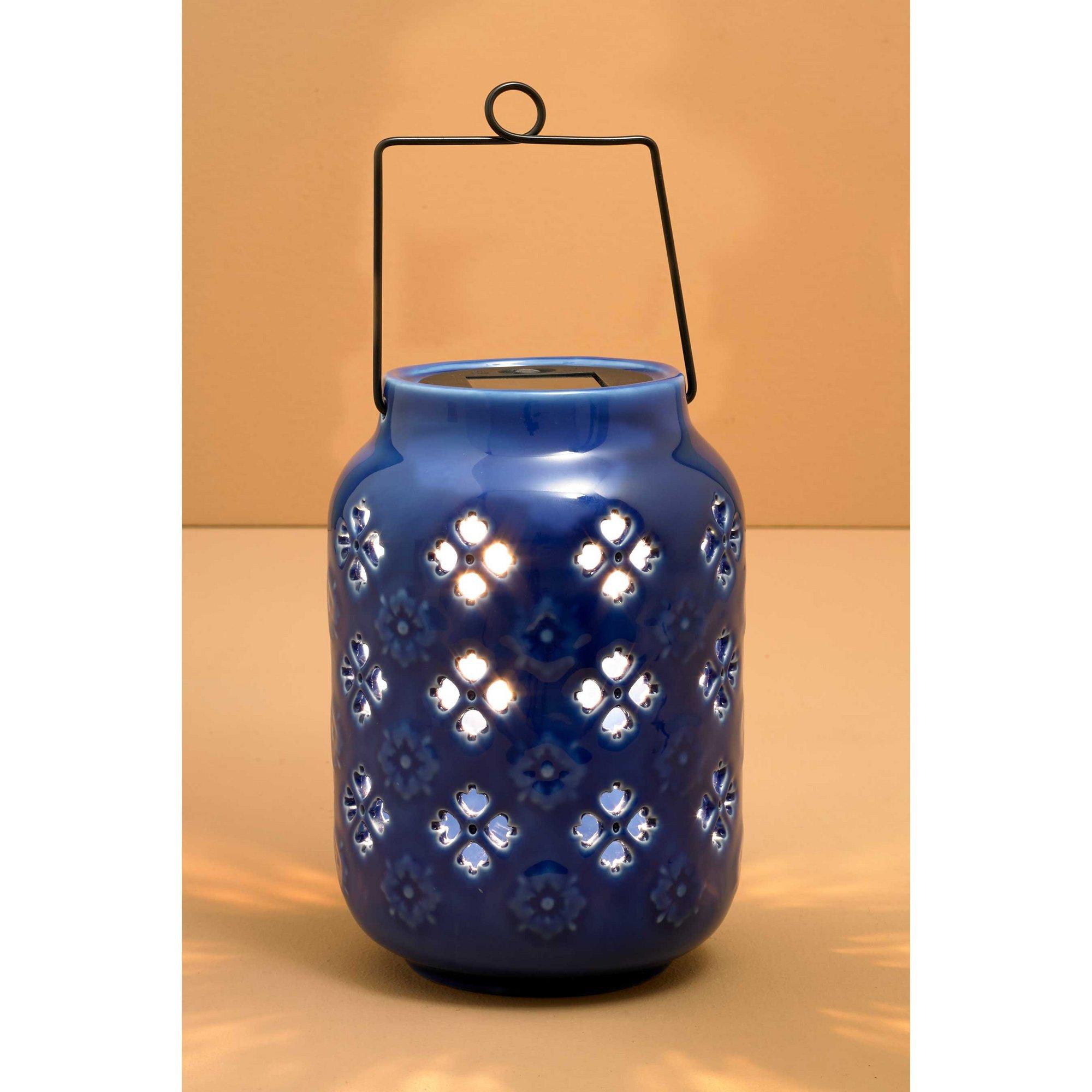 Image of Moroccan Ceramic Solar Lantern