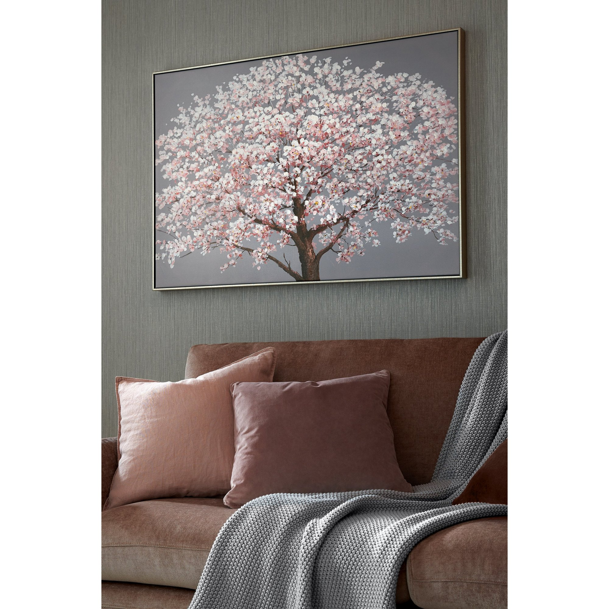 Image of Cherry Blossoms Printed Canvas