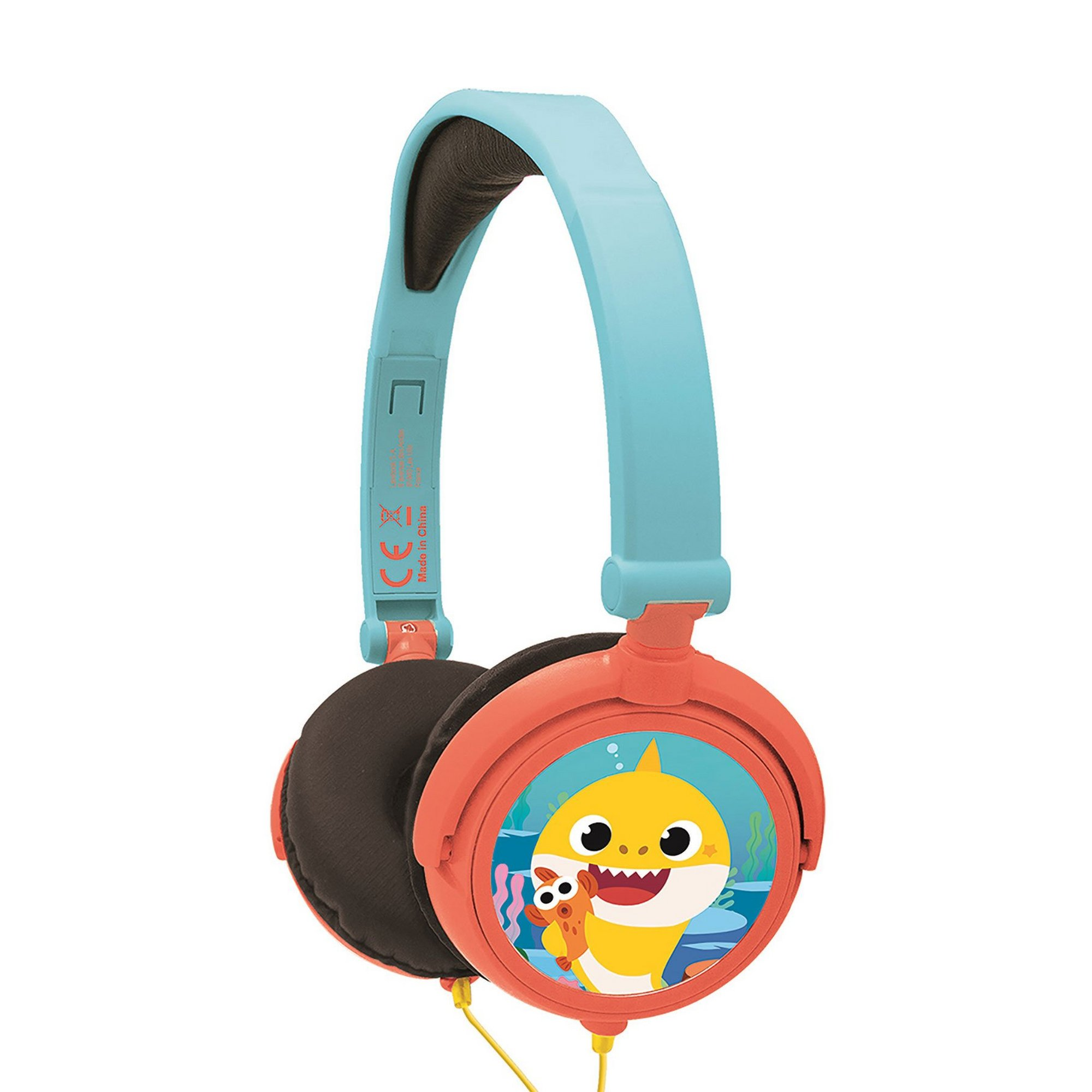 Image of Lexibook Baby Shark Foldable Stereo Headphones with Volume Limiter