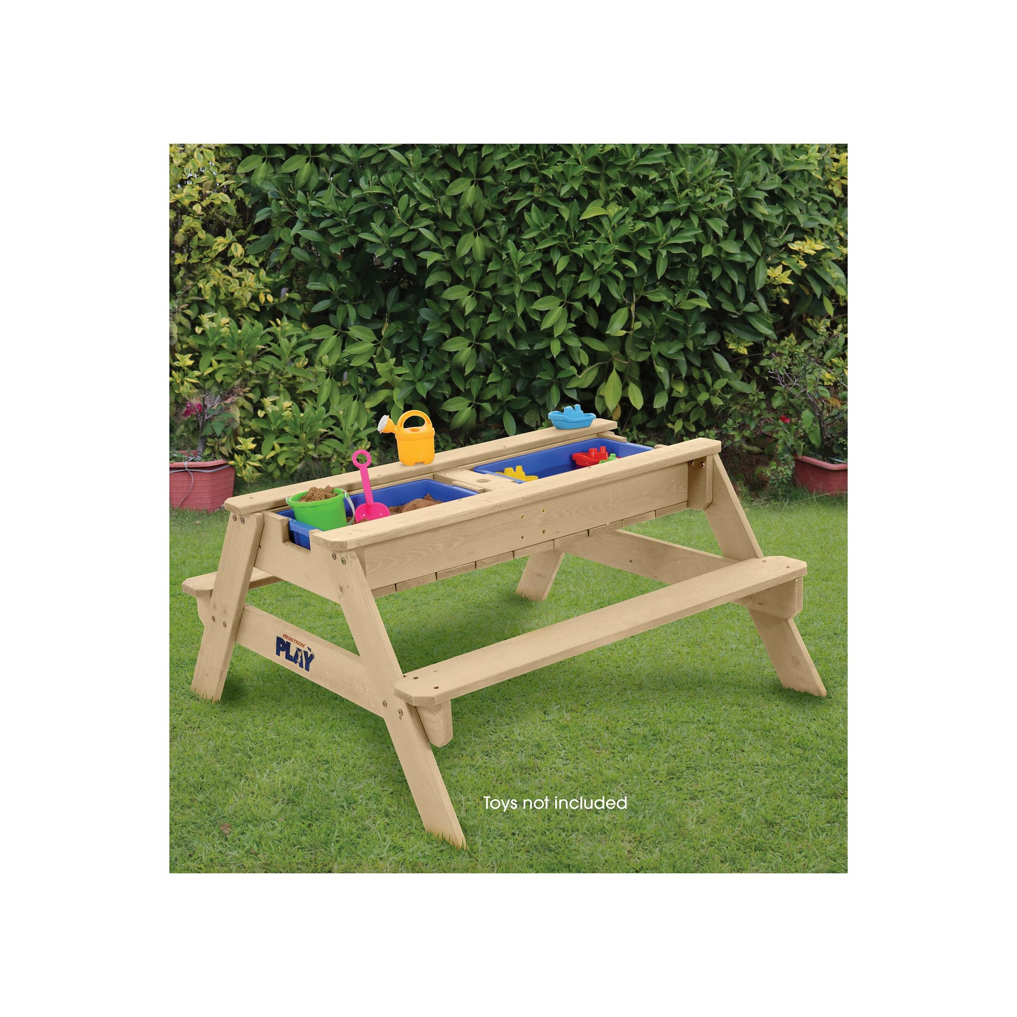 Image of Hedstrom Play Sand&#44 Water&#44 and Ball Play Table and Bench