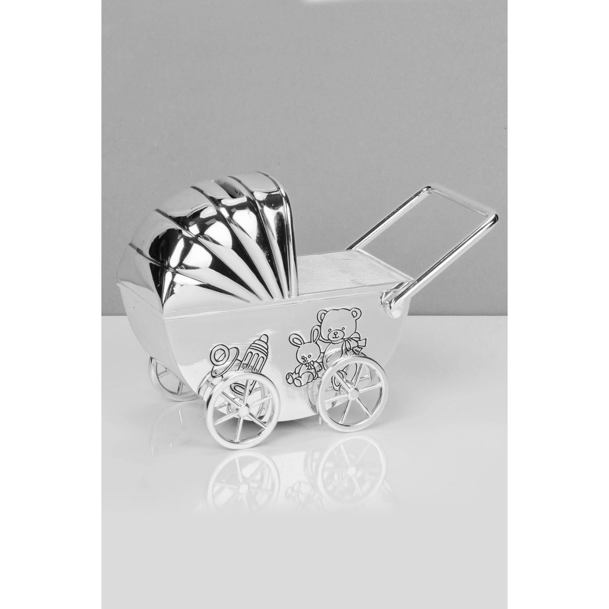 Image of Bambino Silver Plated Pram Money Box