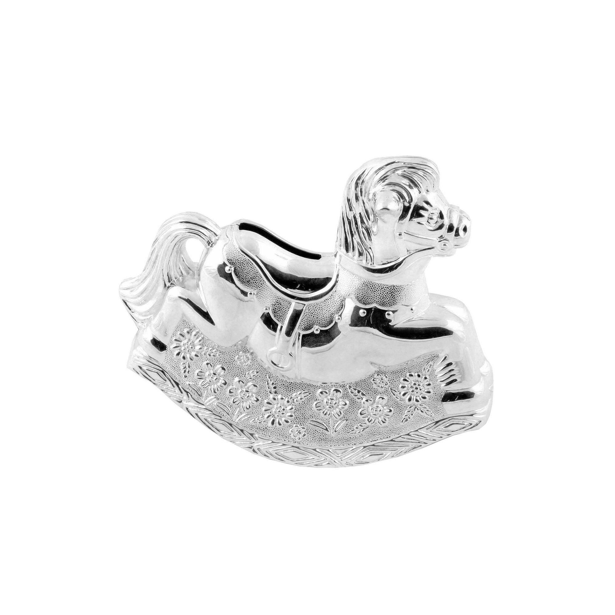 Image of Bambino Silver Plated Rocking Horse Money Box