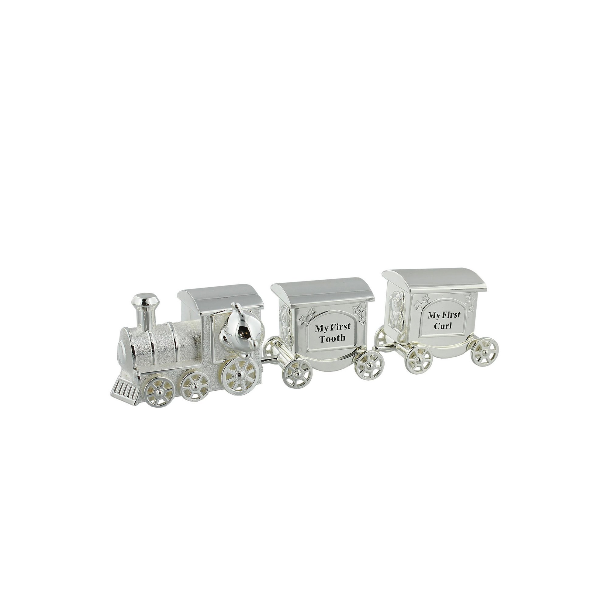 Image of Celebrations Silverplated Train First Tooth and Curl Set