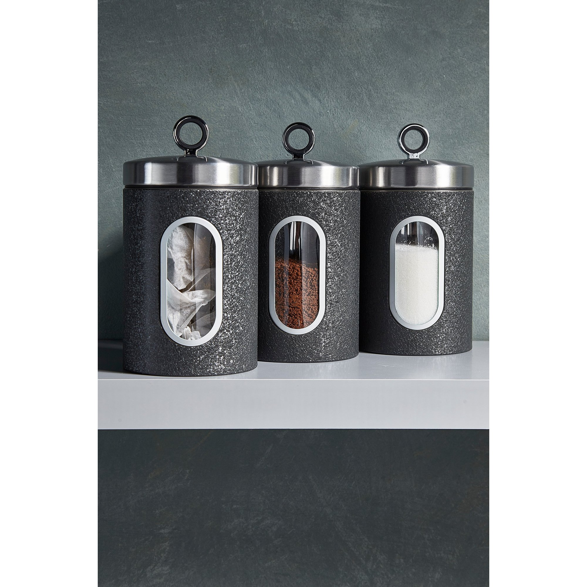 Image of Daewoo Glace Noir Set of 3 Canisters