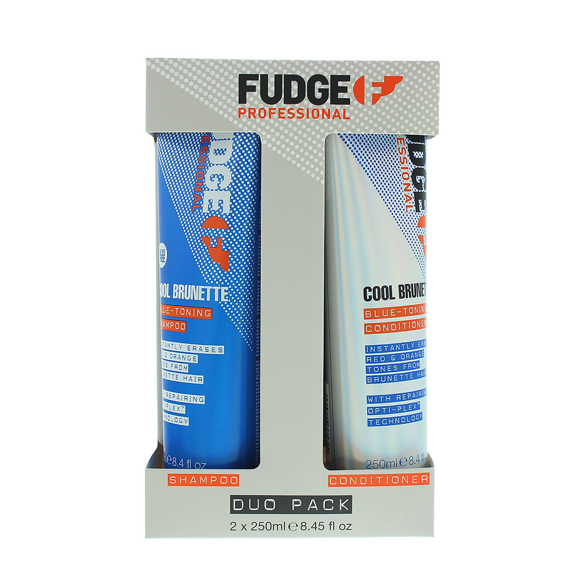 Image of Fudge Cool Brunette Blue-Toning Shampoo + Conditioner Set