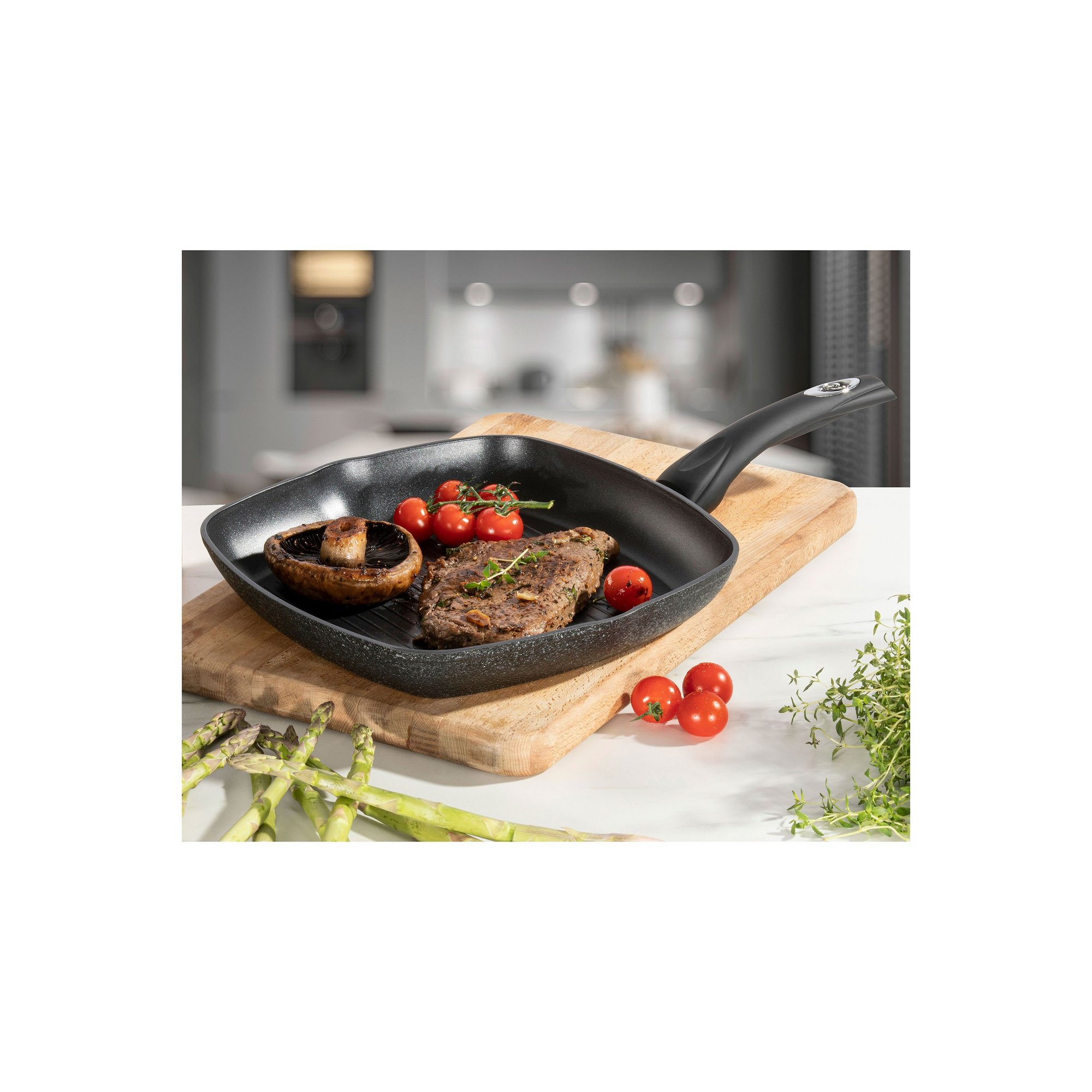 Image of Daewoo Glace Noir 28cm Grill Pan