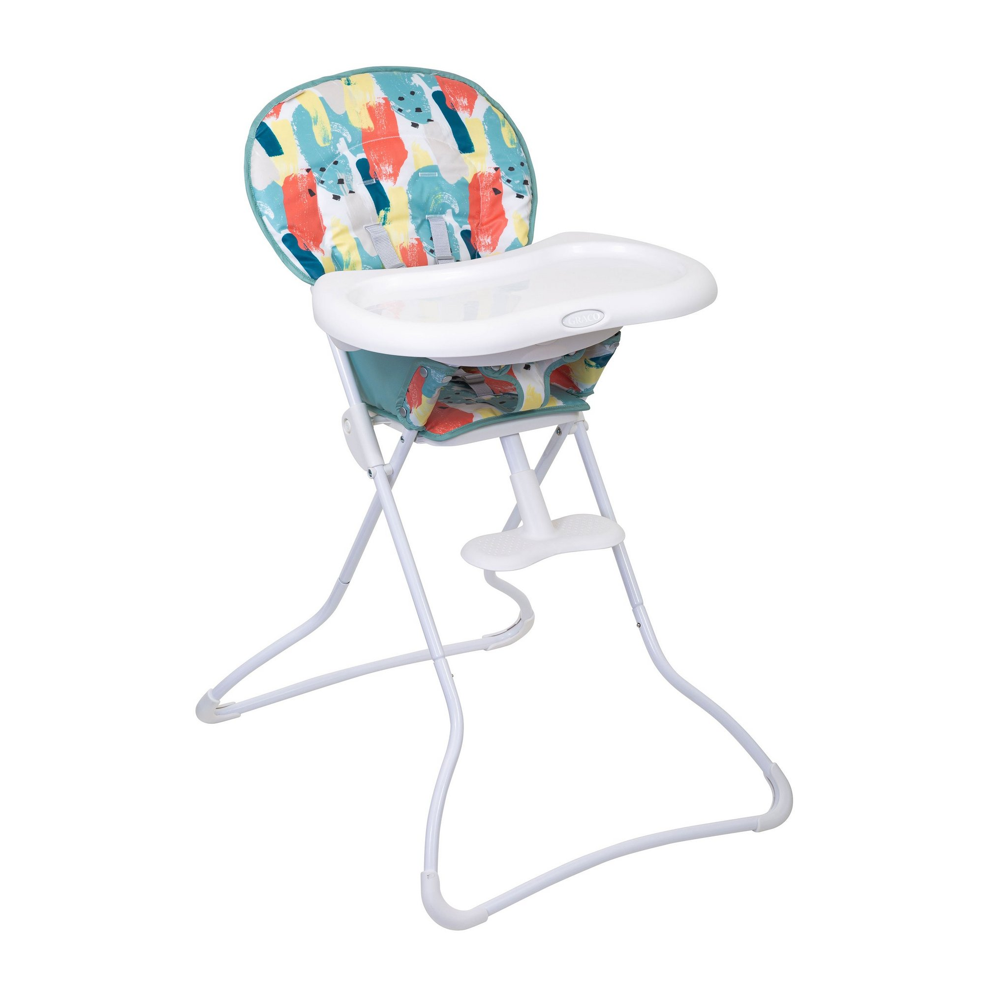 Image of Graco Snack N Stow Highchair - Paintbox