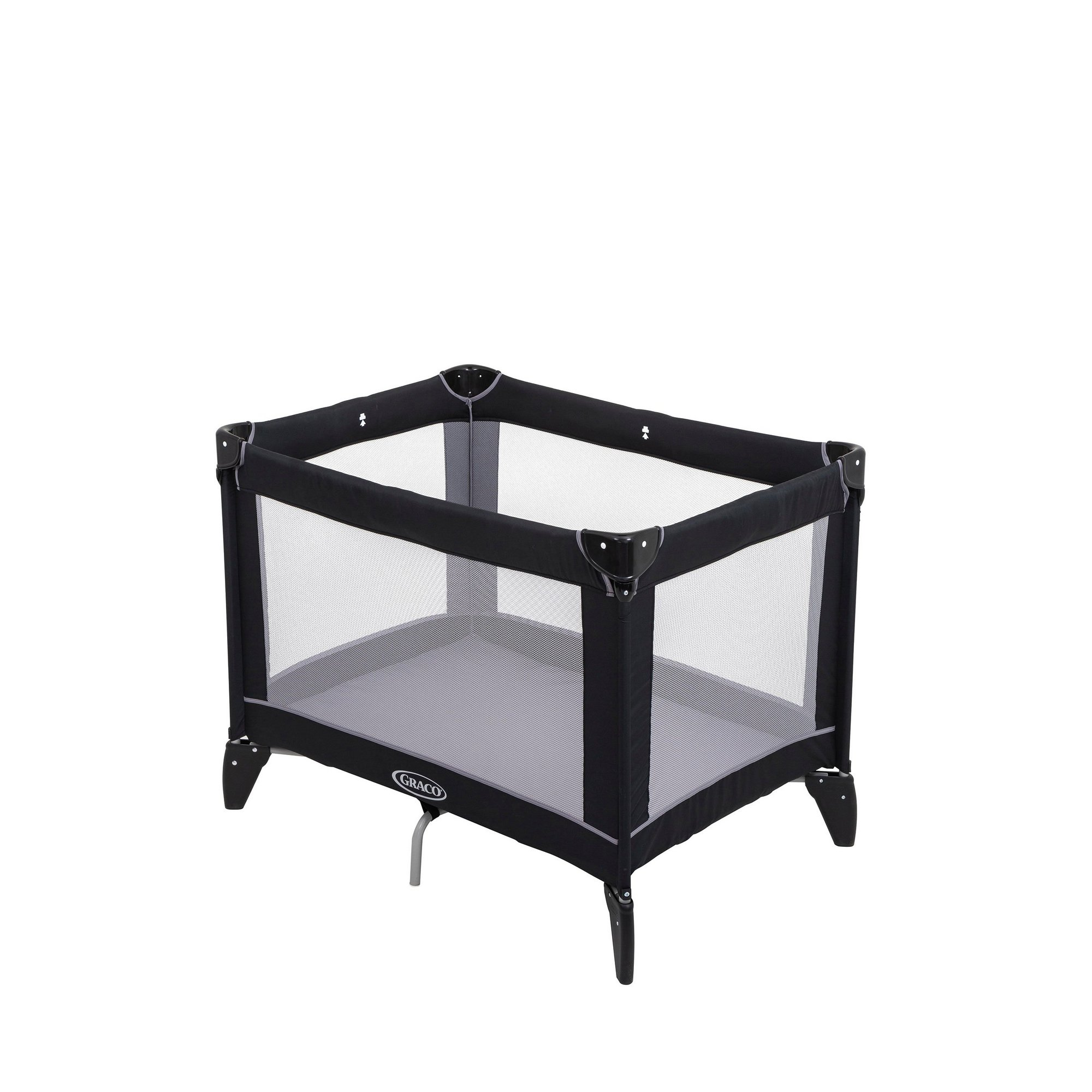 Image of Graco Compact Travel Cot - Black/Grey