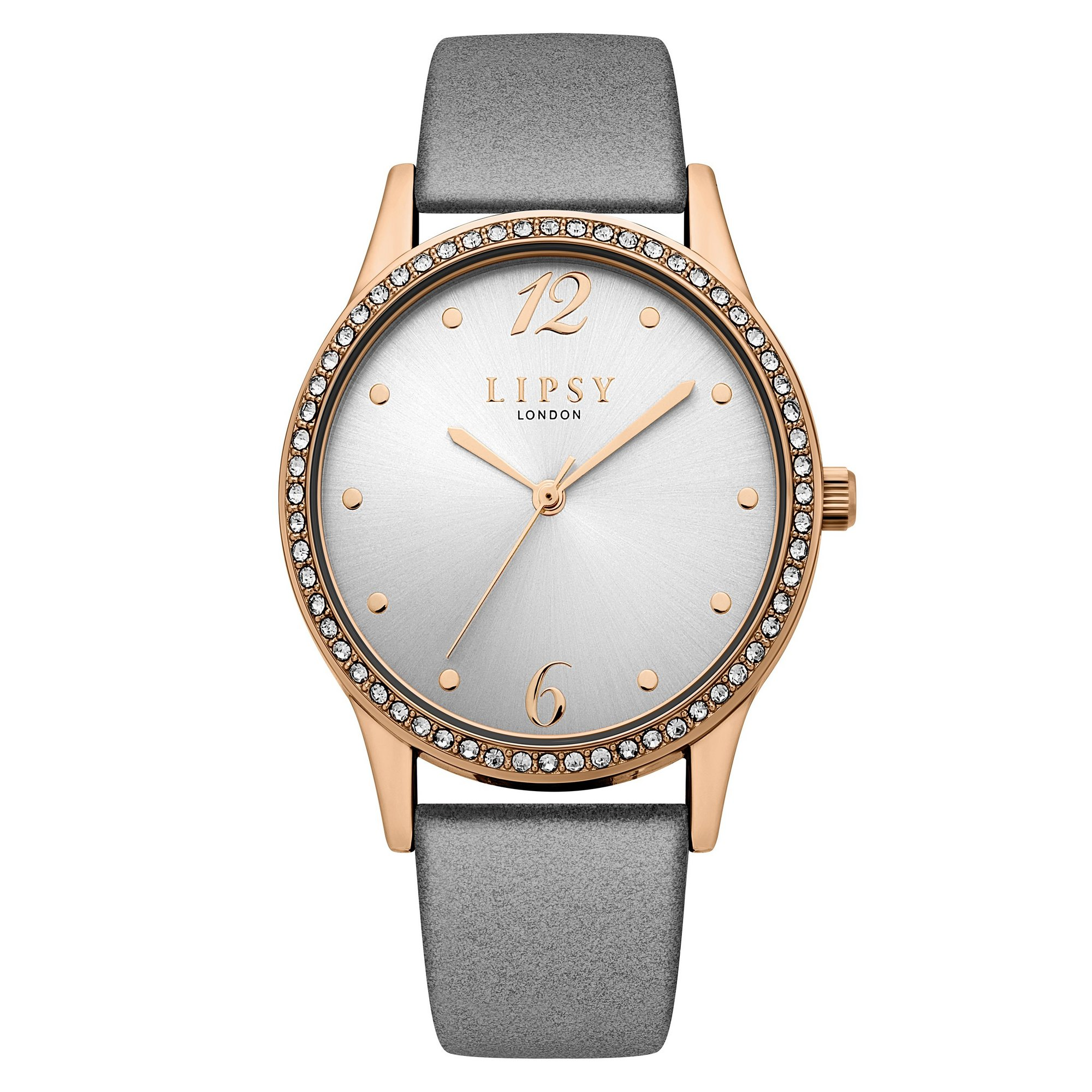 Image of Lipsy Grey Strap Watch with Grey Sunray Dial