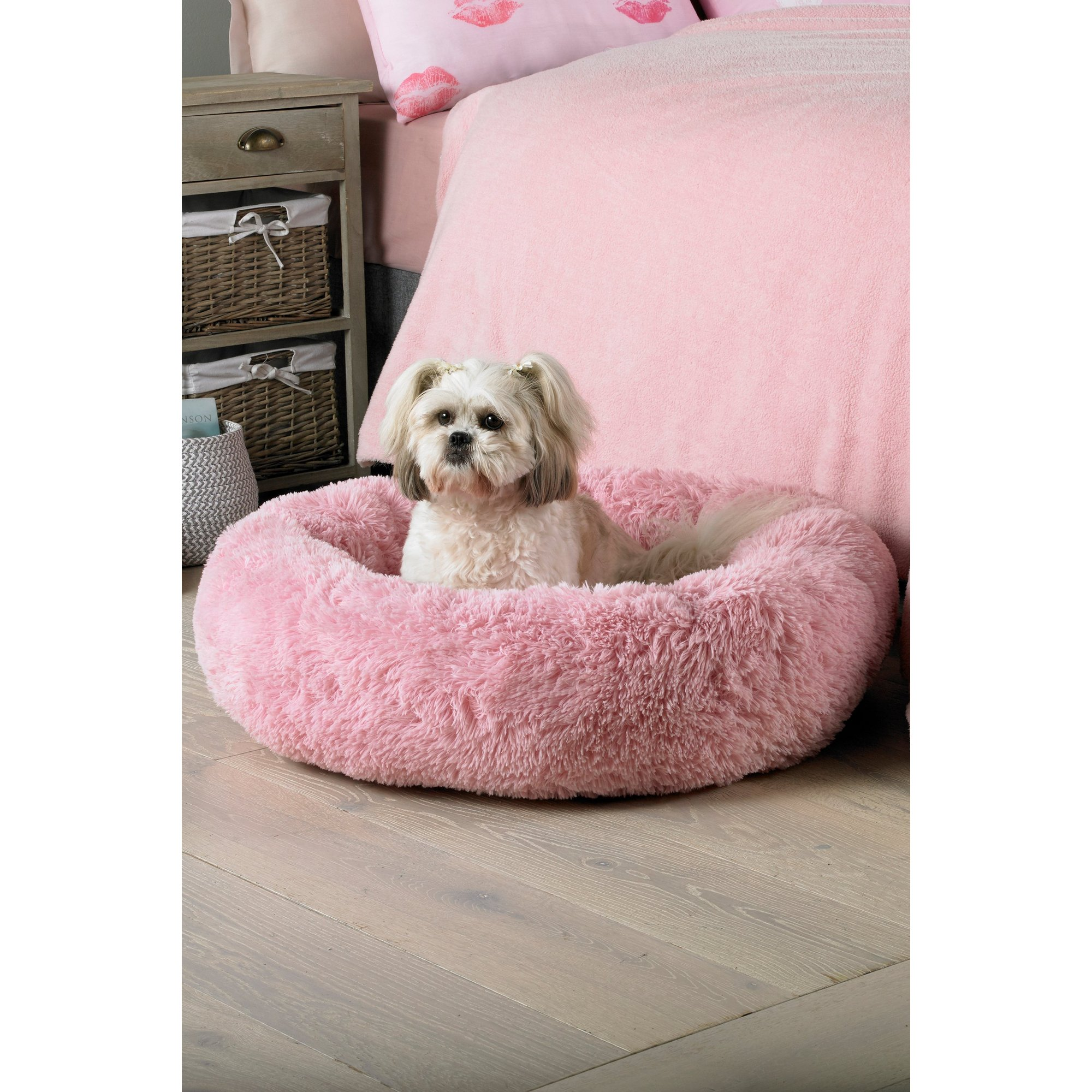 Image of Blush Plush Cosy Nest Pet Bed