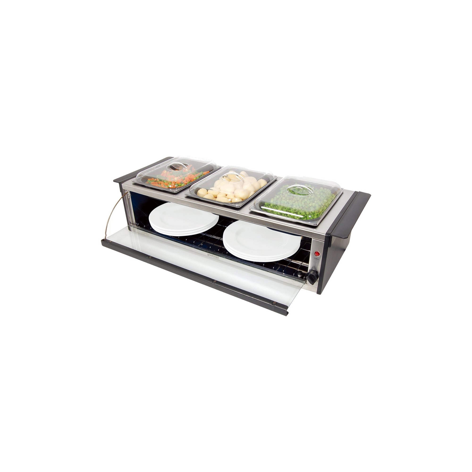 Image of Gourmet Hostess Serving Station with Plate Warmer