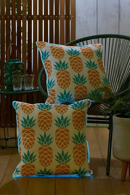 Image for Outdoor Pair of Light Up Pineapple Scatter Cushions from studio