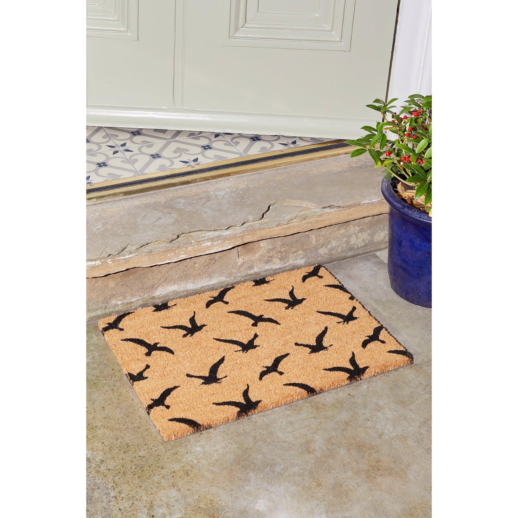 Image of Astley Flock of Birds Printed Coir Mat
