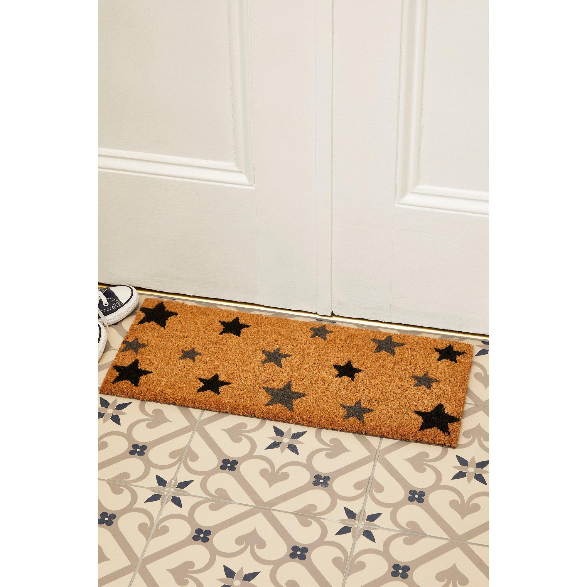 Image of Astley Charcoal Stars Printed Step Mat
