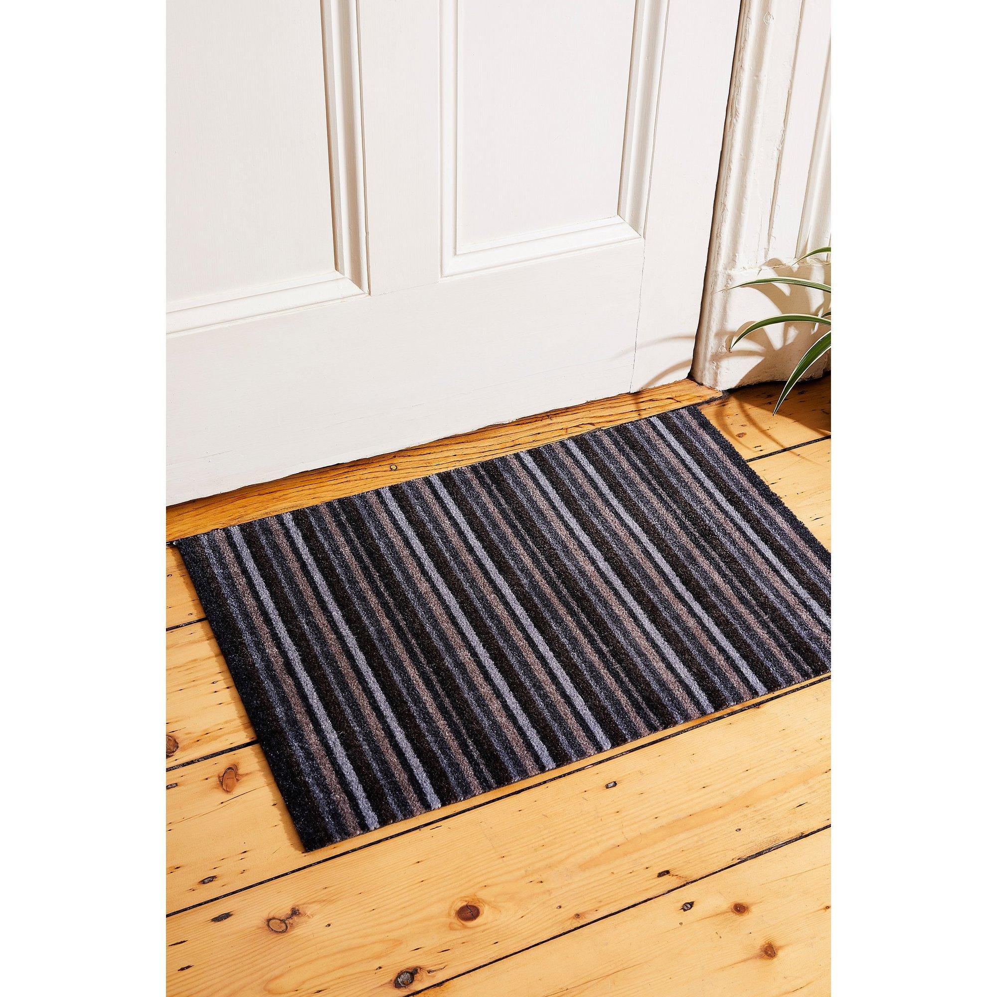 Image of Chorlton Neutrals Stripe Washable Mat