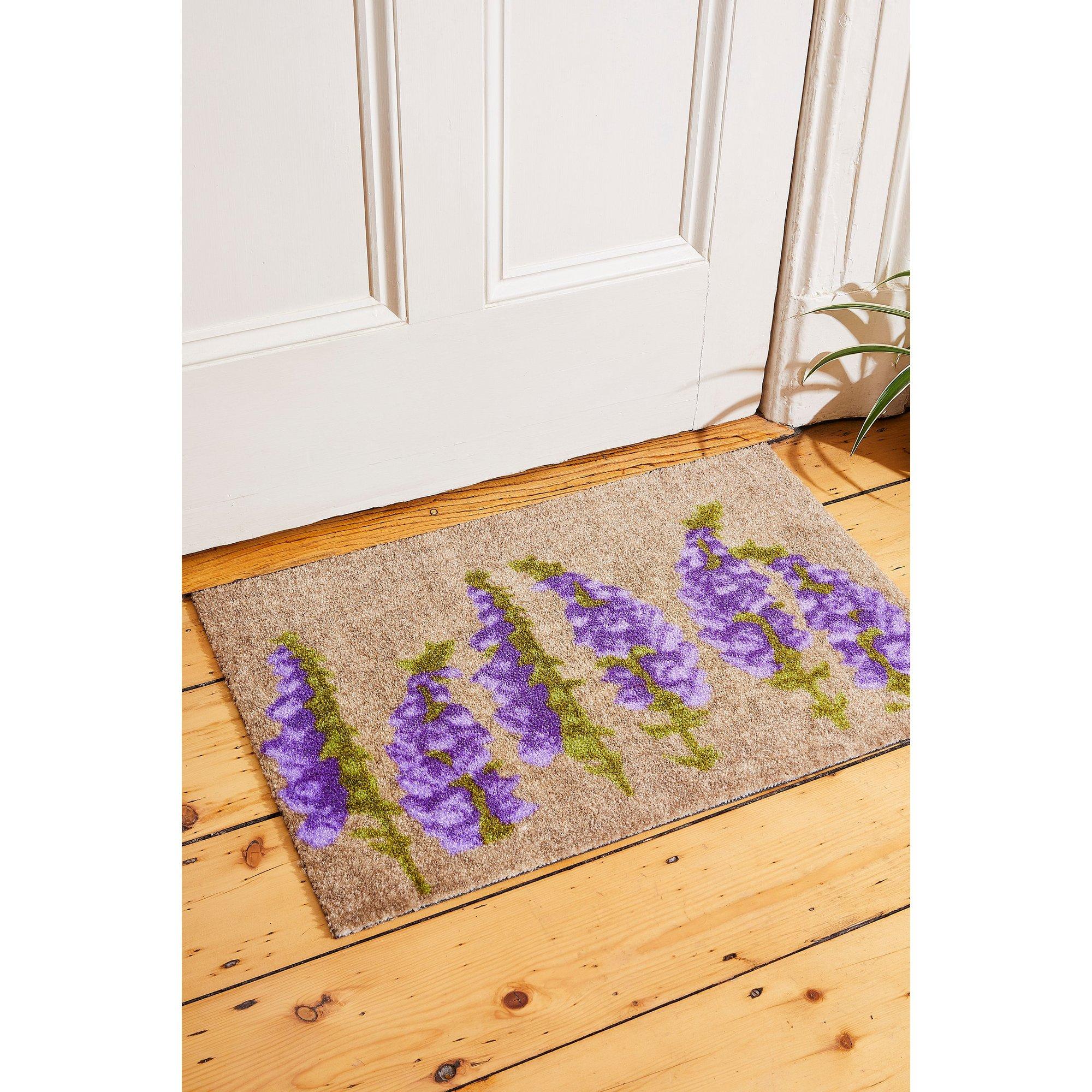 Image of Chorlton Purple Flowers Washable Mat