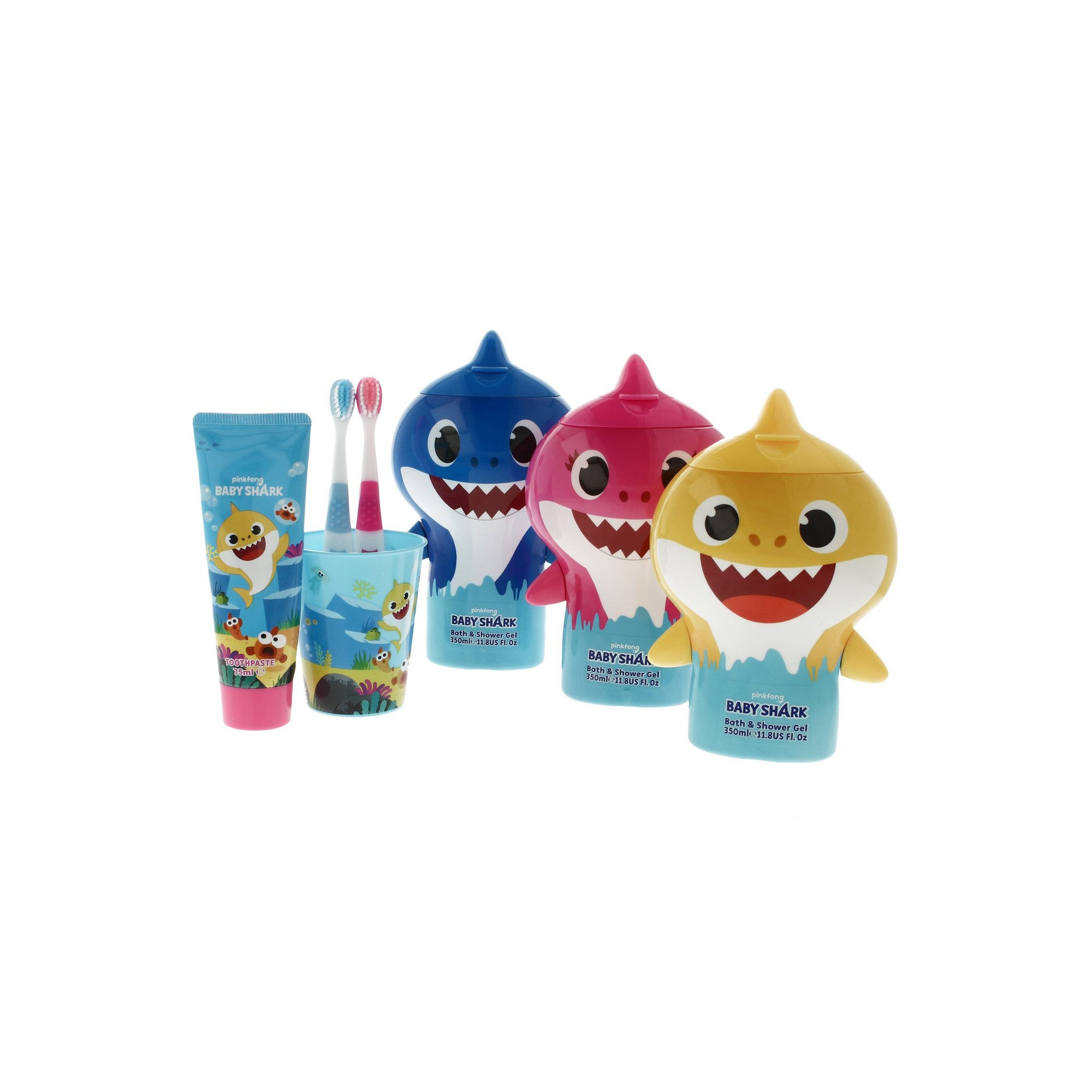 Image of Baby Shark Toothbrush and Shower Gel Pack