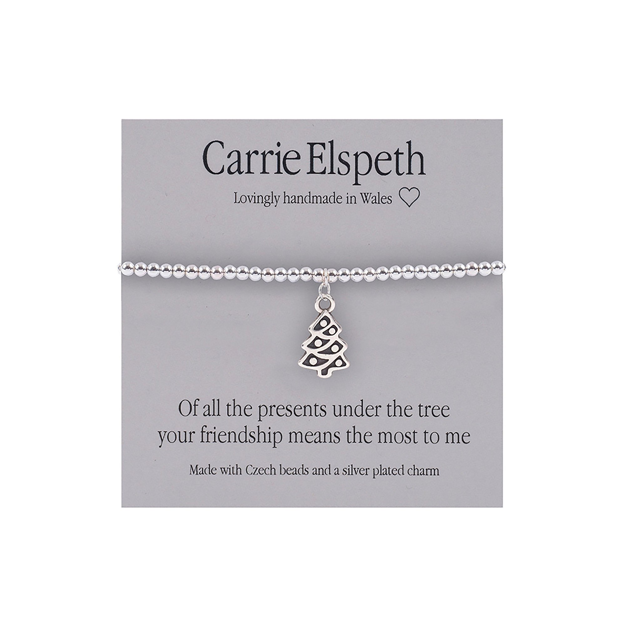 Image of Carrie Elspeth Of All The Presents Under the Tree Sentiment Bracelet