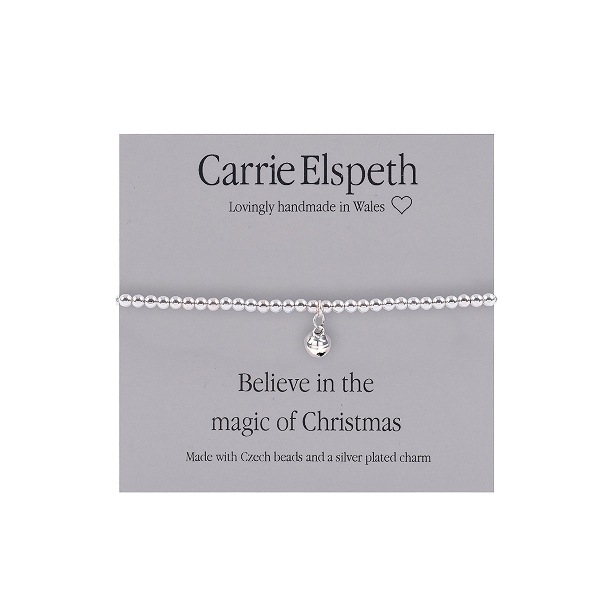 Image of Carrie Elspeth Believe In The Magic of Christmas Sentiment Bracelet