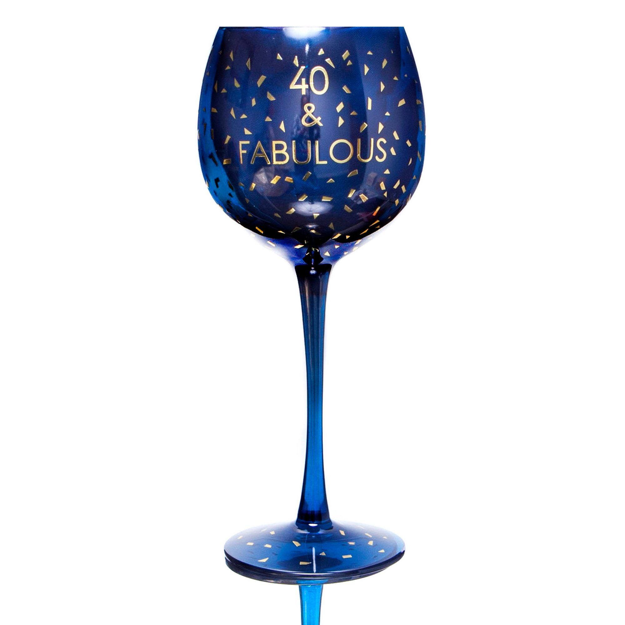 Image of 40th Opulent Wine Glass