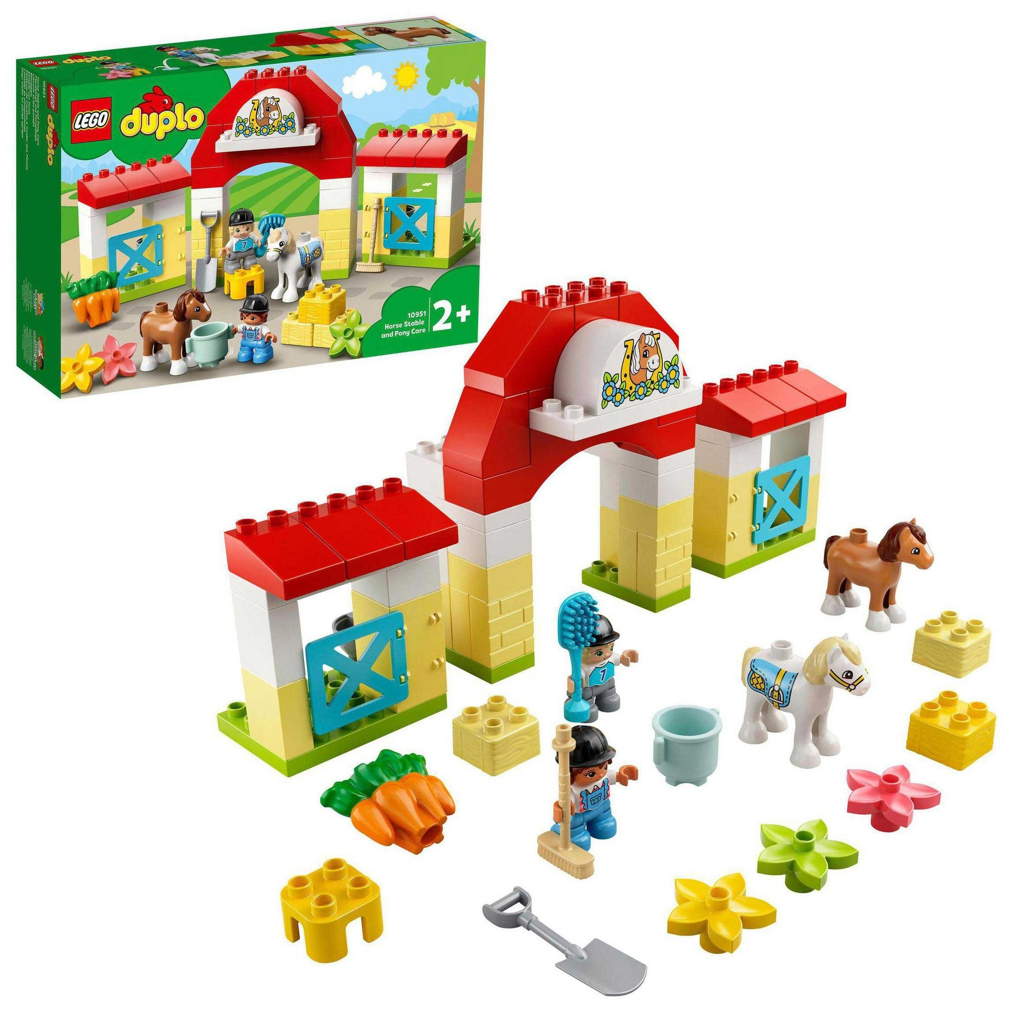 Image of LEGO Duplo Town Horse Stable and Pony Care Toy