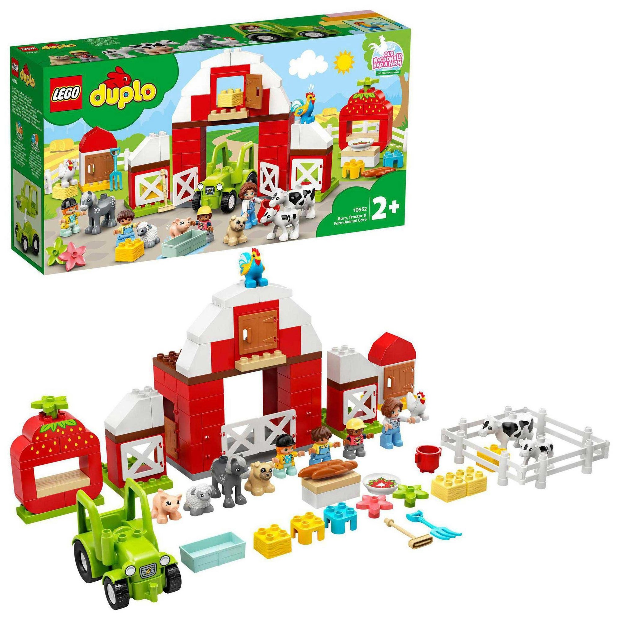 Image of LEGO Duplo Town Barn&#44 Tractor and Farm Animal Care