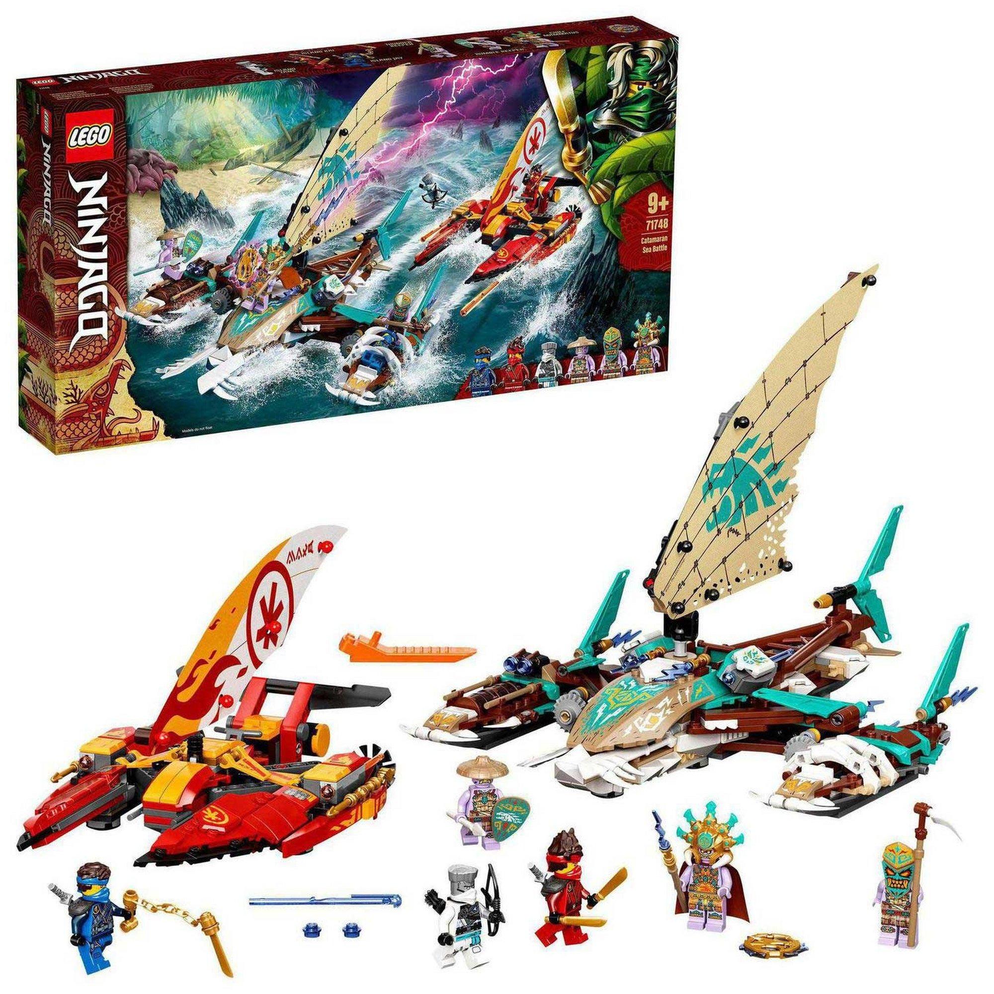 Image of LEGO Ninjago Catamaran Sea Battle Building Set