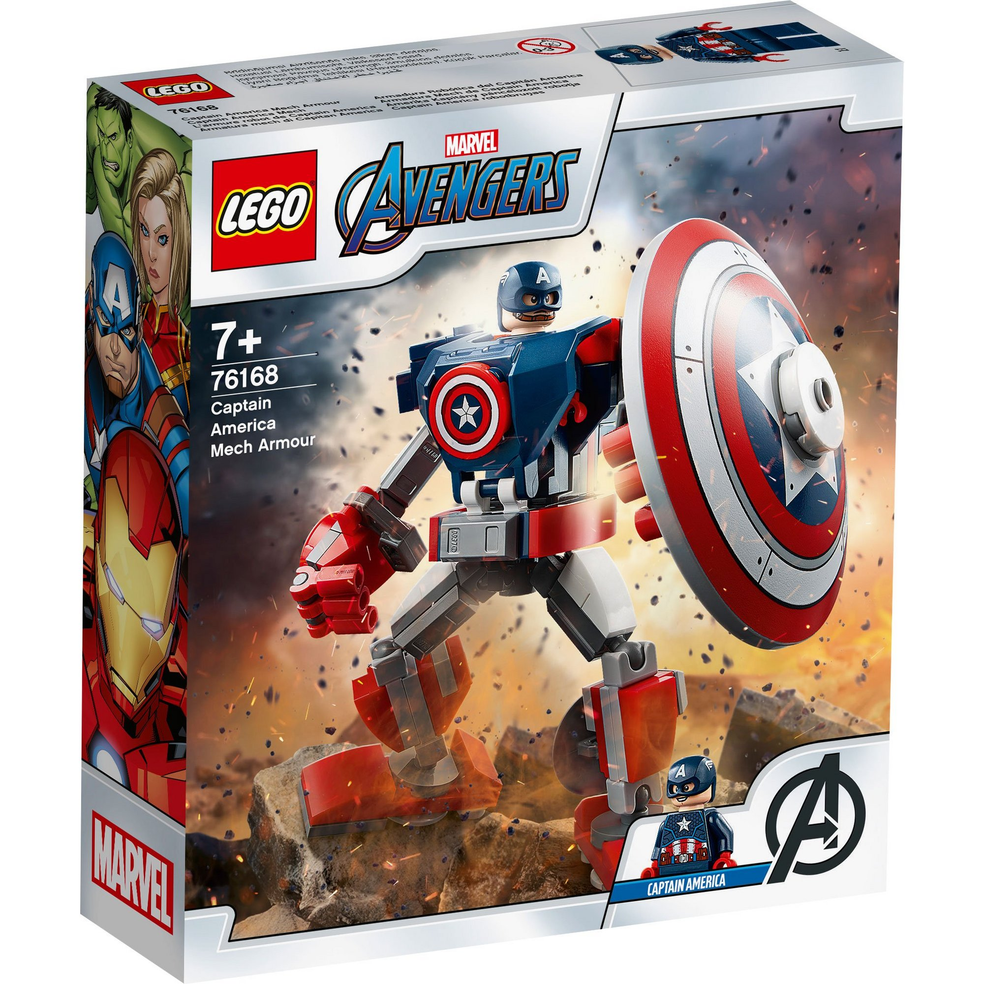 Image of LEGO Super Heroes Captain America Mech Armor