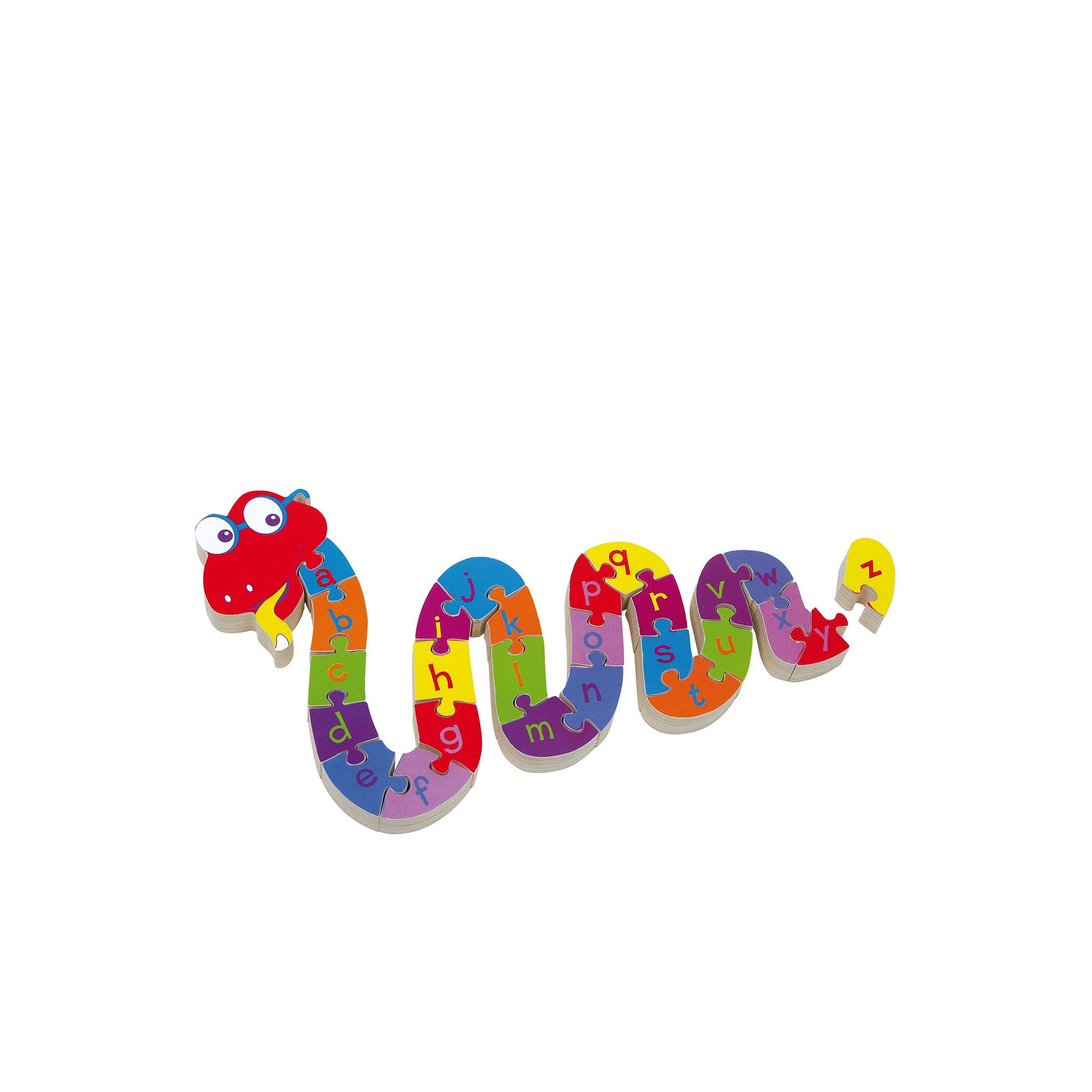 Image of LEGLER Small Foot ABC Snake Wooden Plug Puzzle