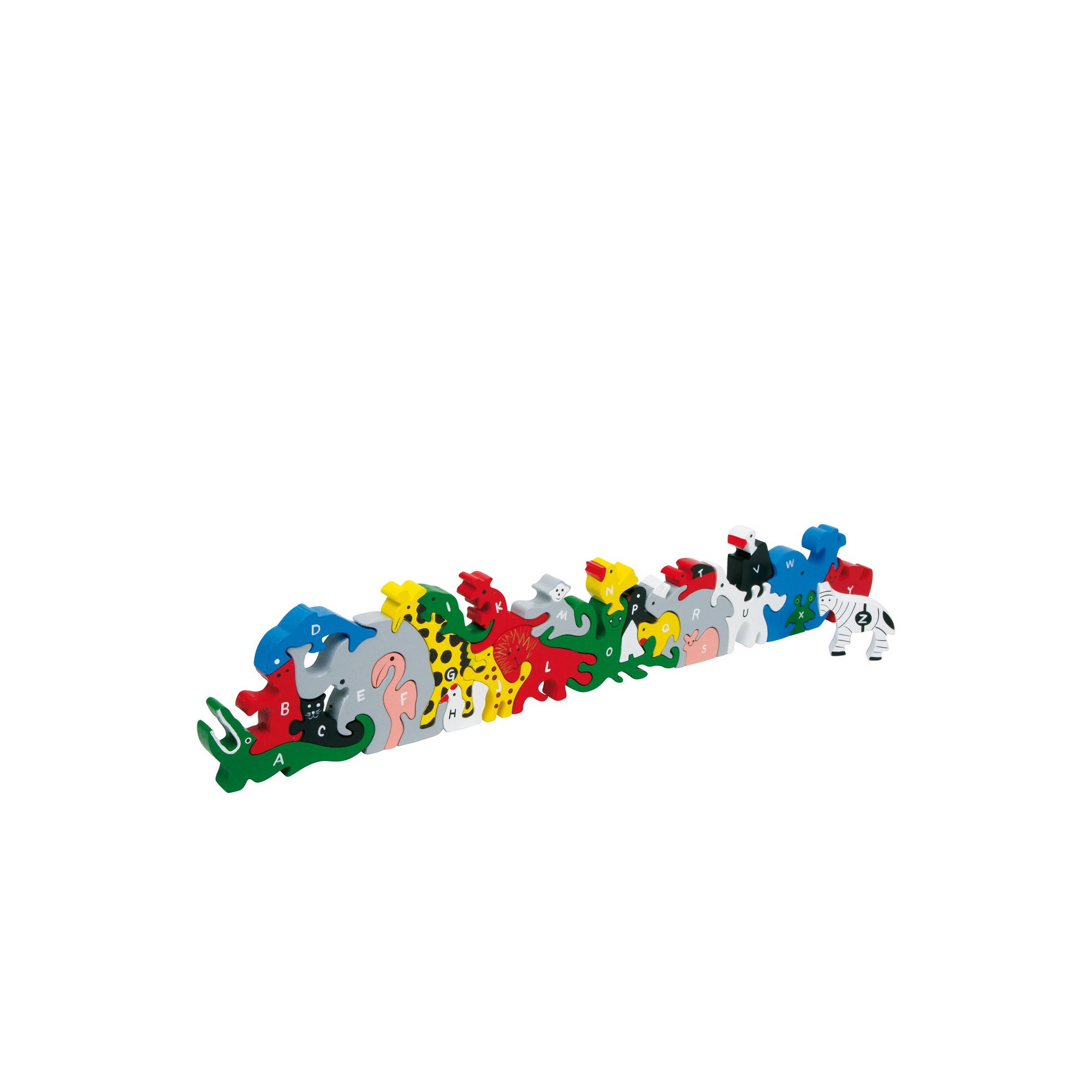 Image of LEGLER Small Foot Animal Letters and Numbers Wooden Plug Puzzle