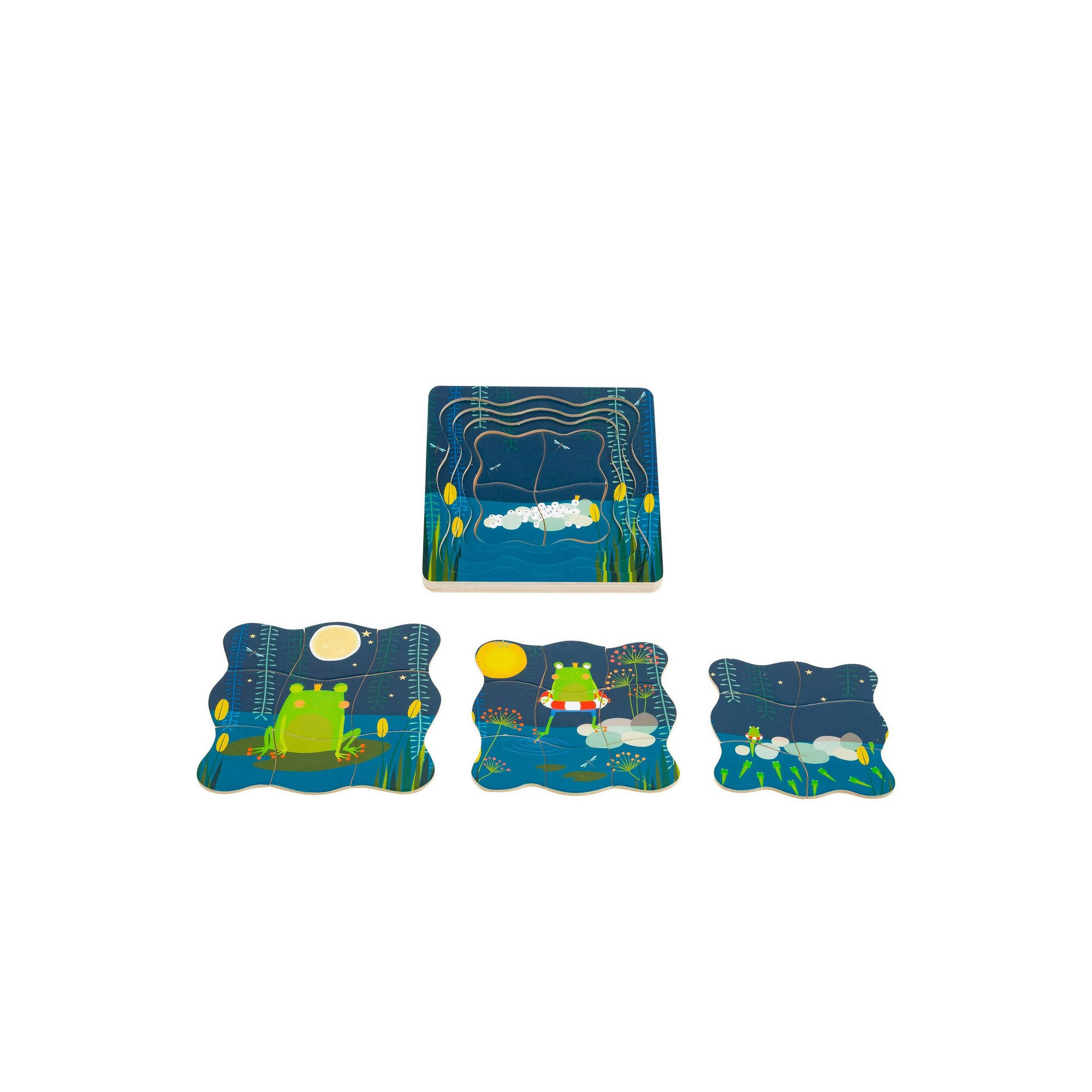 Image of LEGLER Small Foot Childrens Frog King Layer Puzzle