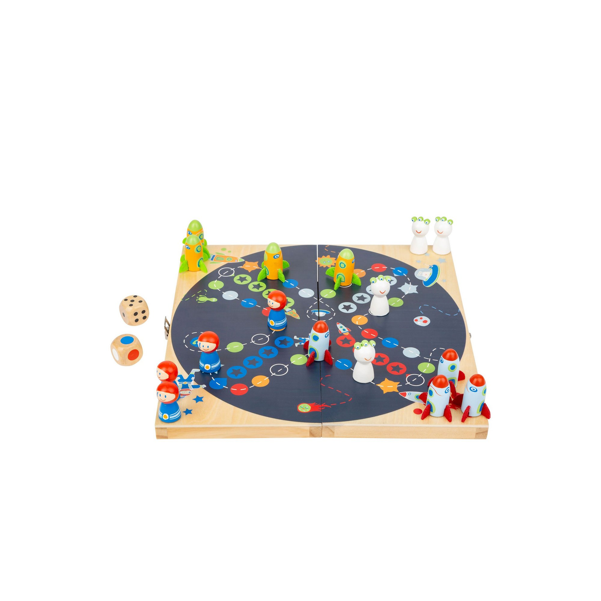 Image of LEGLER Small Foot Childrens Ludo Space Board Game