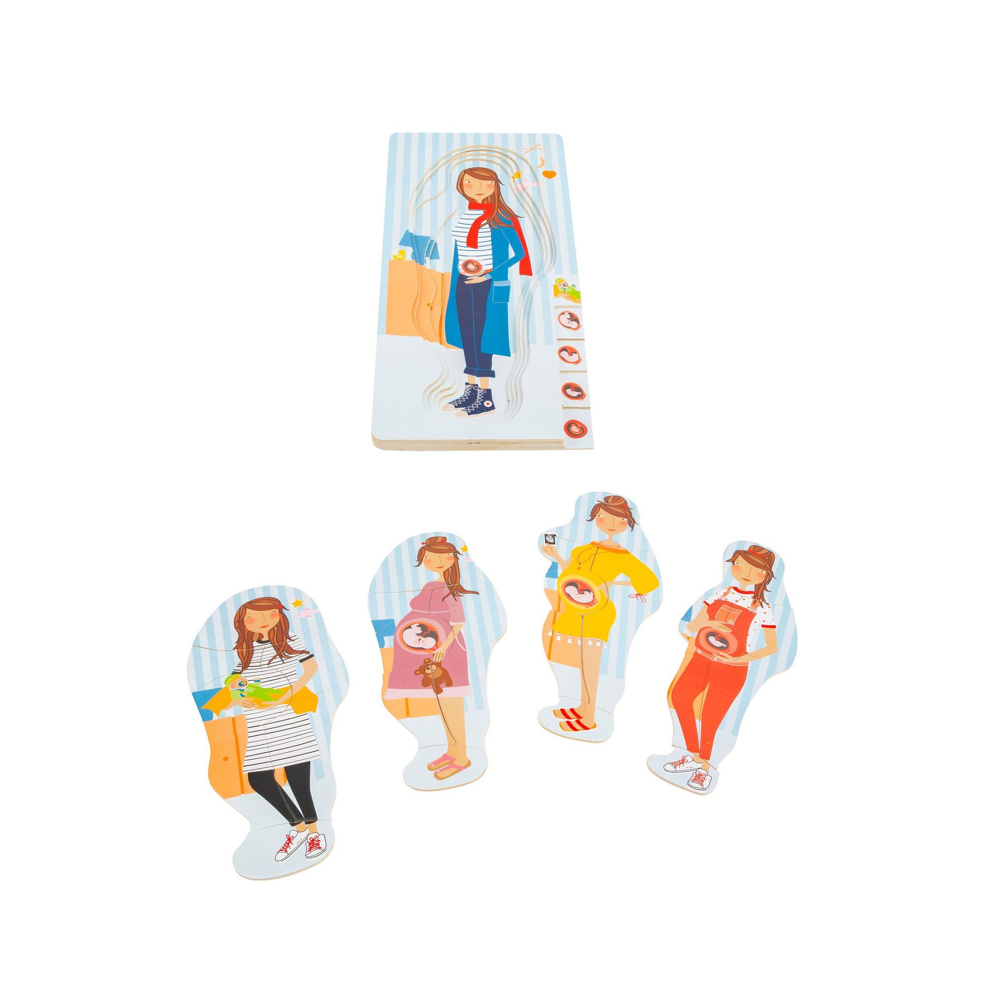 Image of LEGLER Small Foot Childrens Pregnancy Layer Puzzle