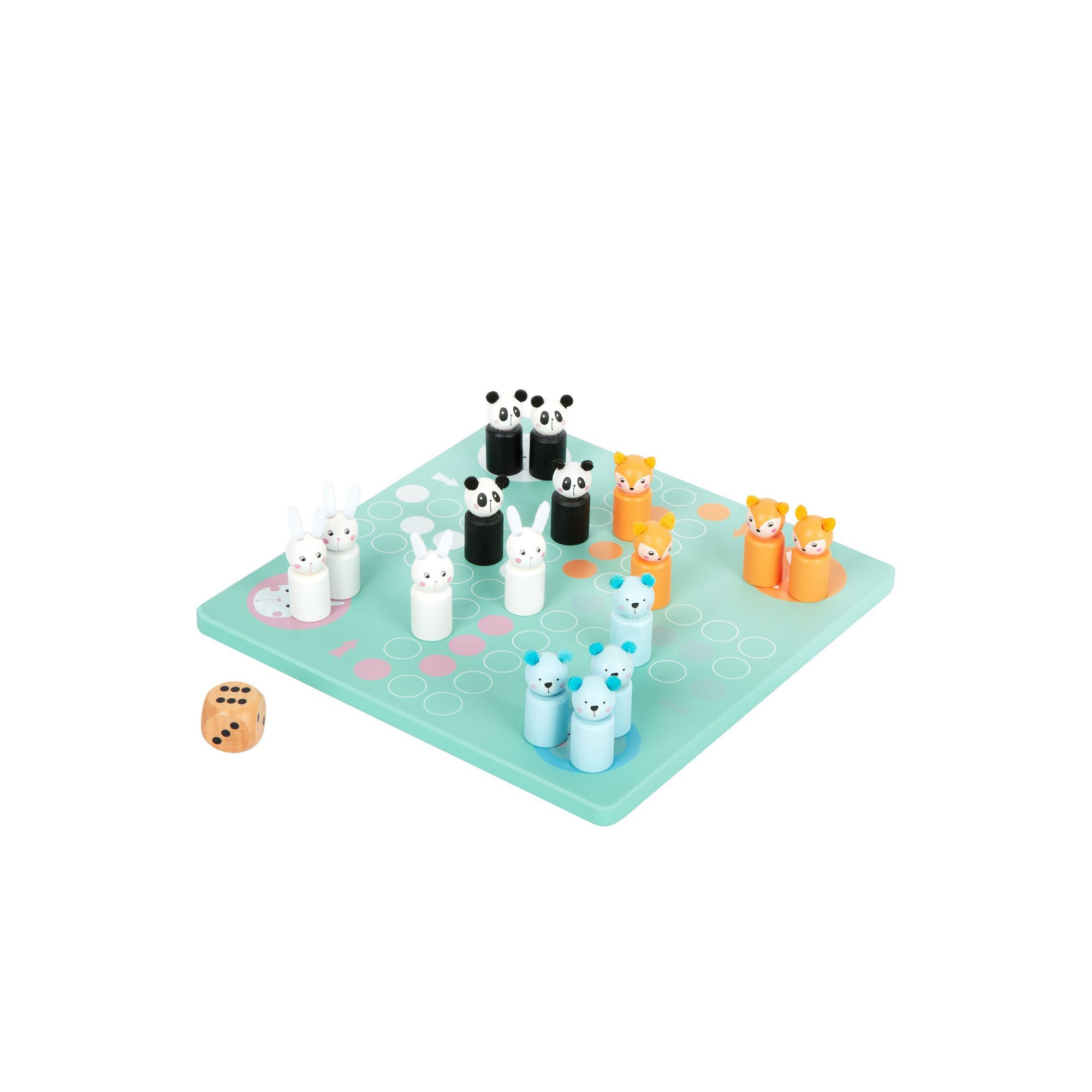 Image of LEGLER Small Foot Childrens Ludo Pastel Colours Board Game