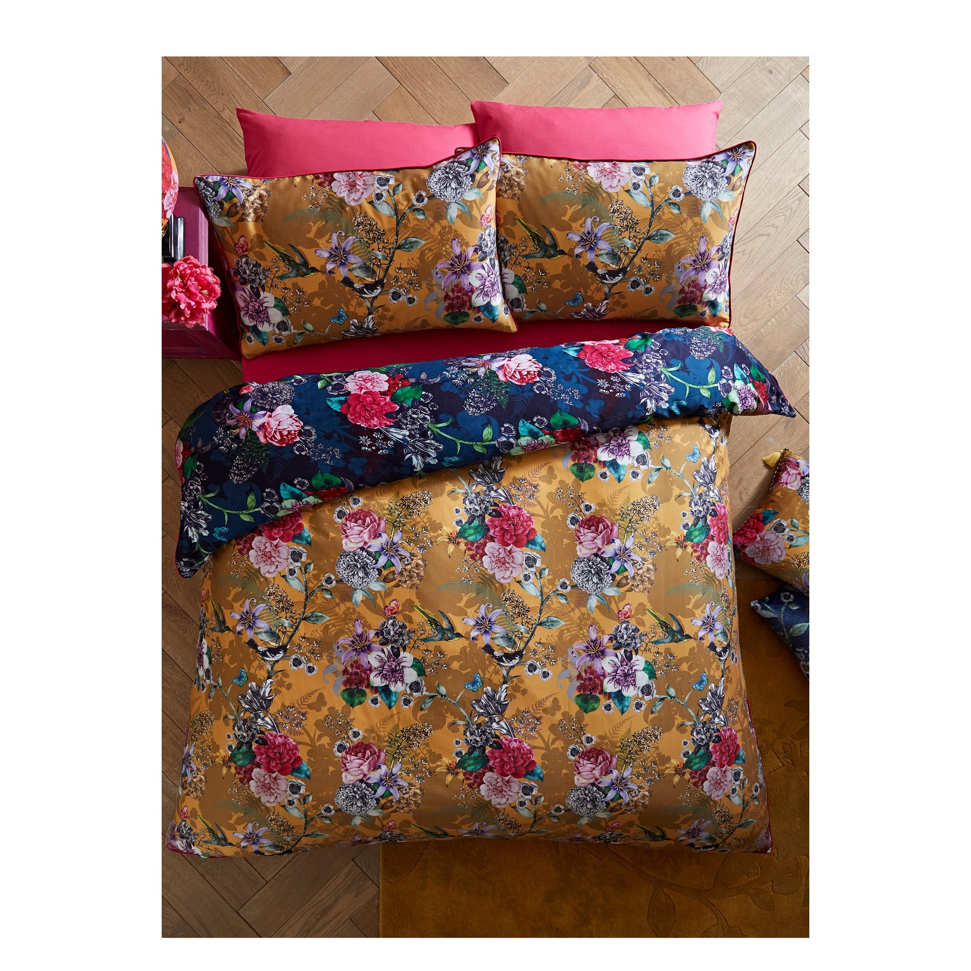 Image of Flowerful Reversible Duvet Set