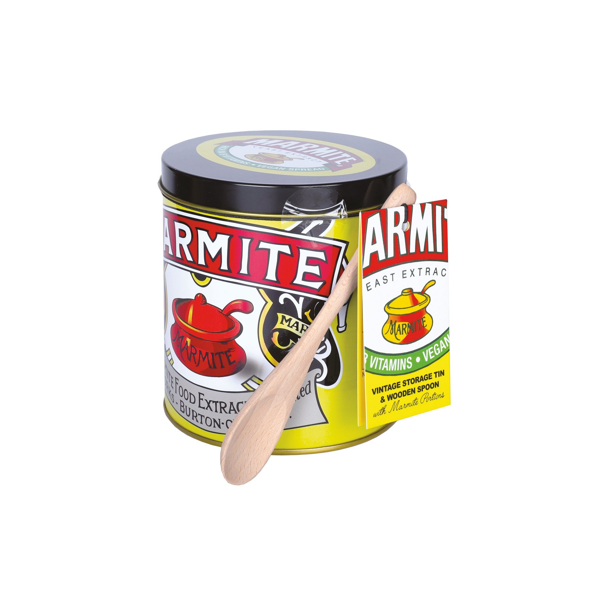 Image of Marmite Vintage Tin with Spoon and Marmite Portions