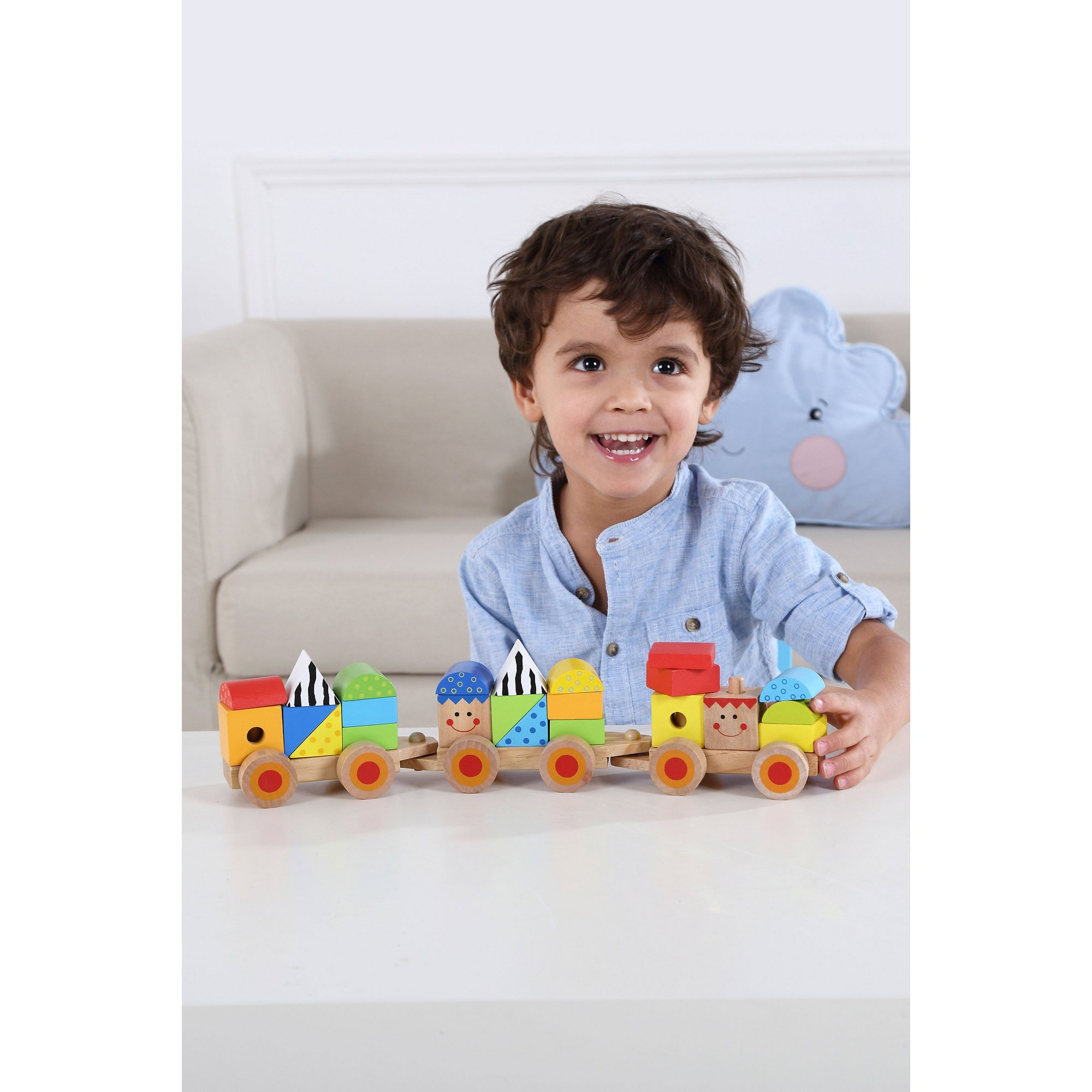 Image of Wooden Stacking Train