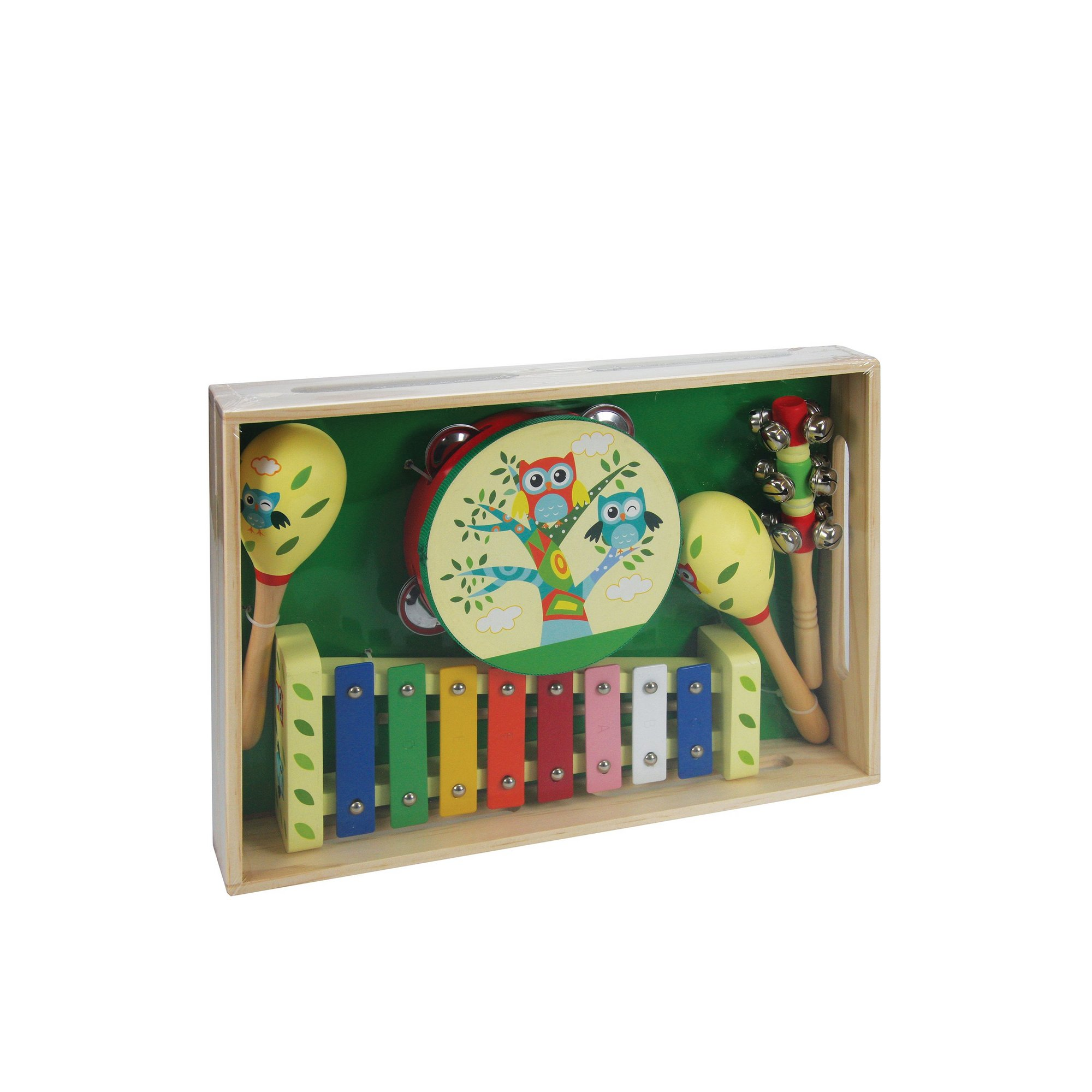 Image of Wooden Owl Musical Set