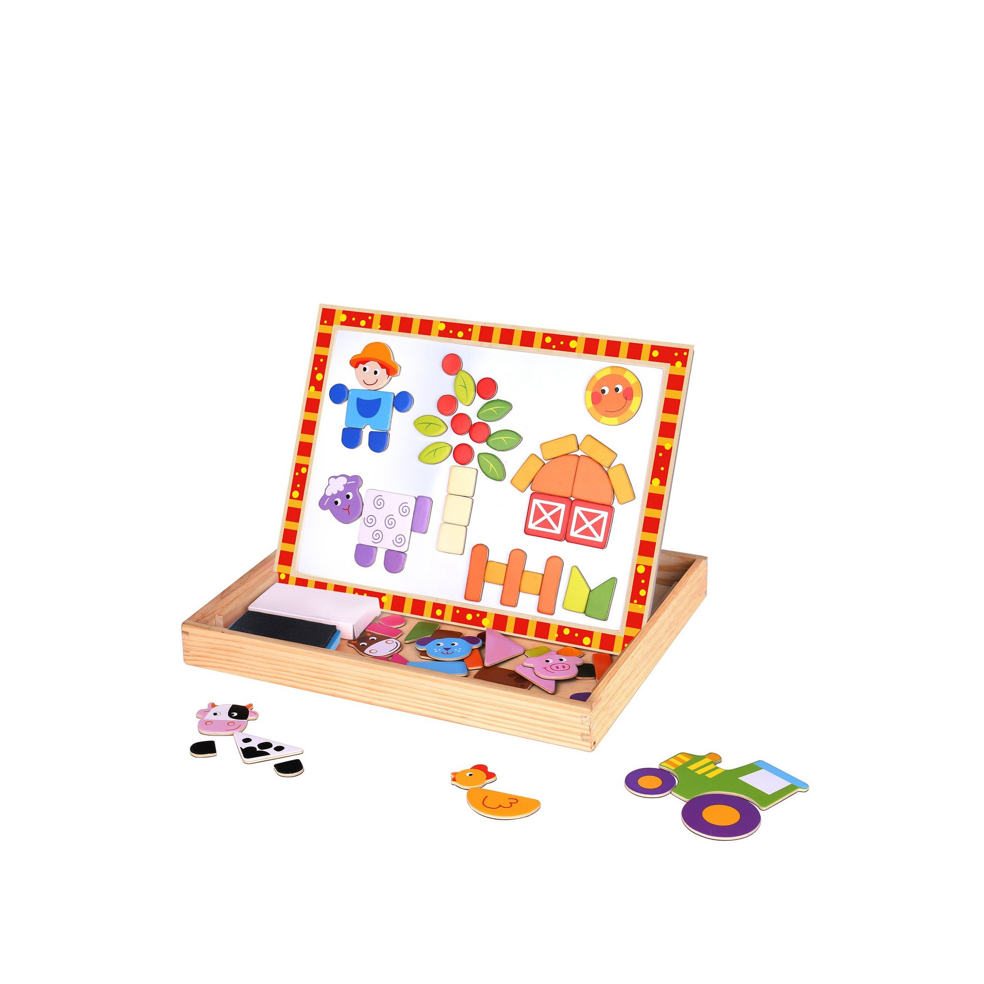 Image of Wooden Magnetic Double Sided Activity Board