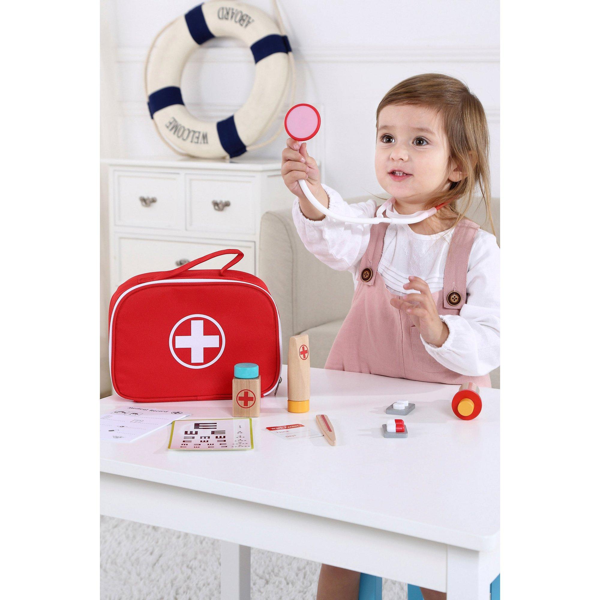 Image of Wooden Medical Set