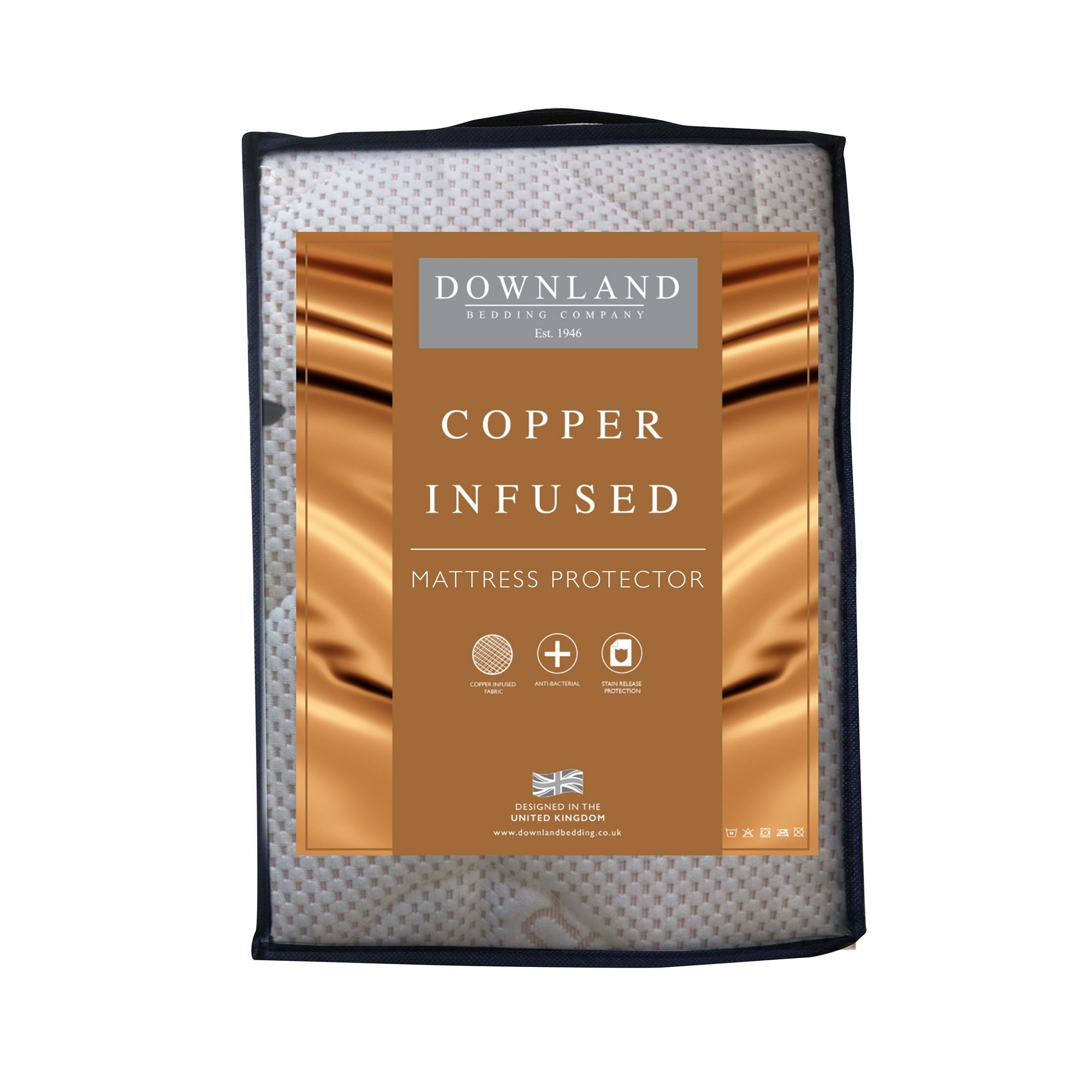 Image of Downland Copper Infused Mattress Protector