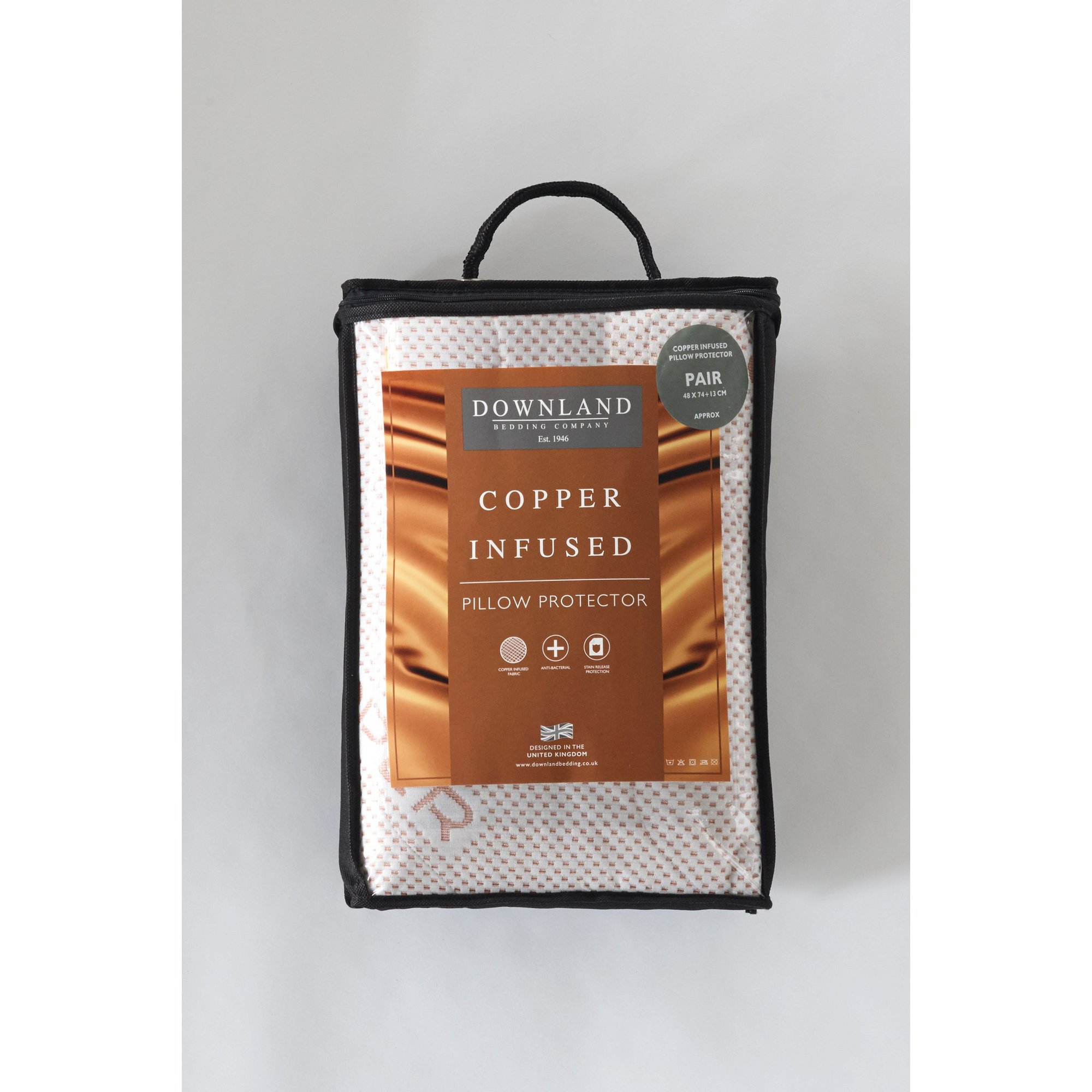 Image of Downland Copper Infused Pair of Pillow Protectors