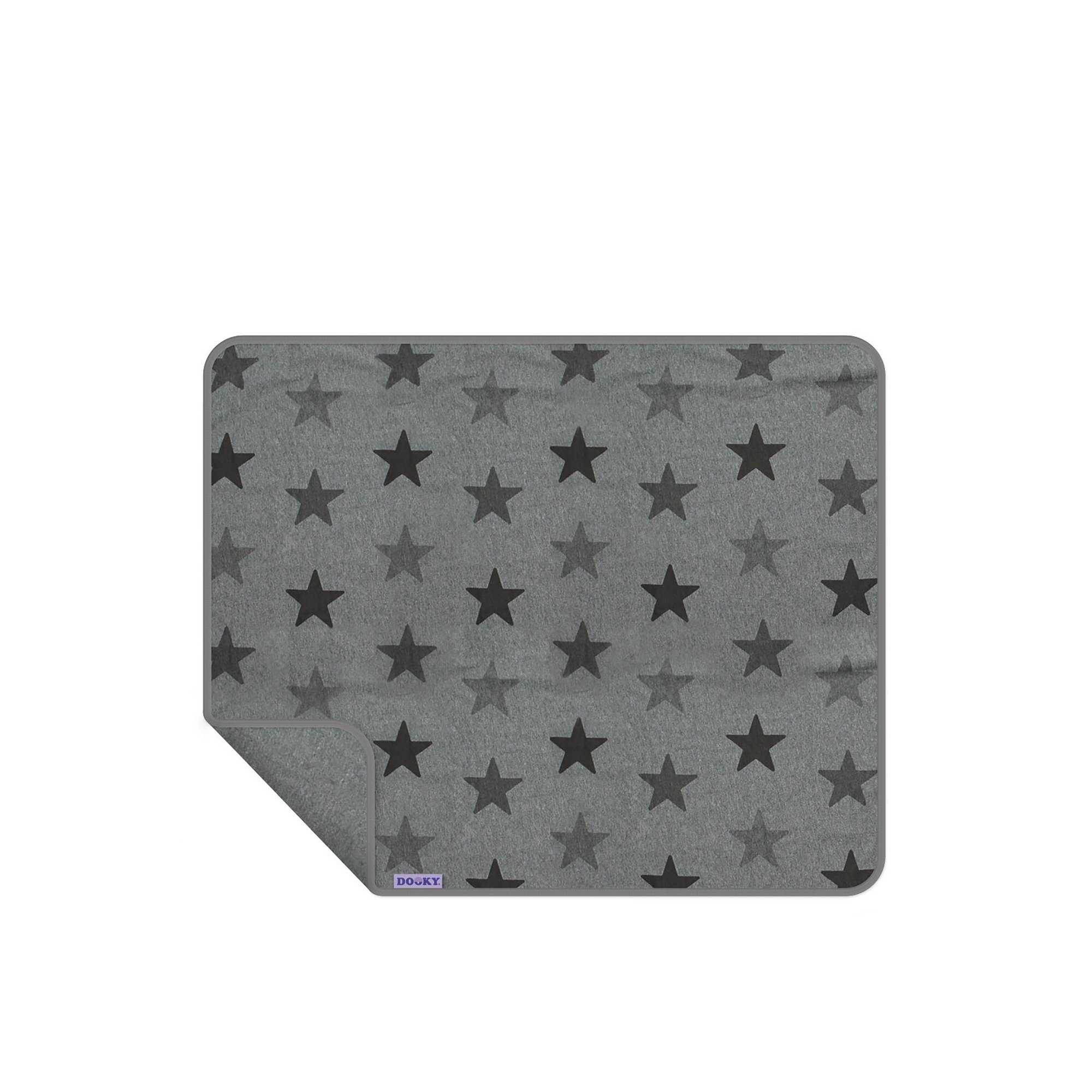 Image of Dooky Blanket Single Layer Grey Star
