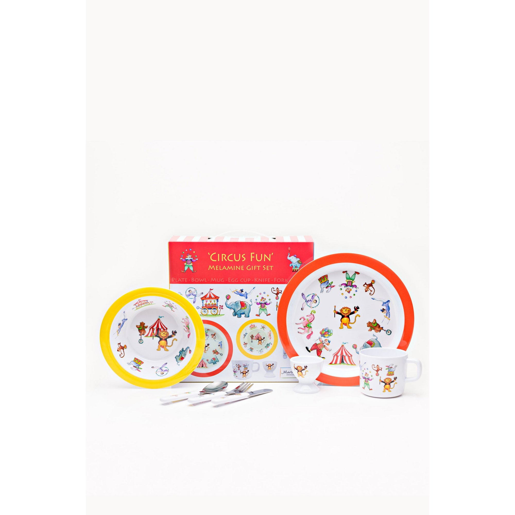 Image of Circus 7 Piece Melamine Dining Set by Martin Gulliver