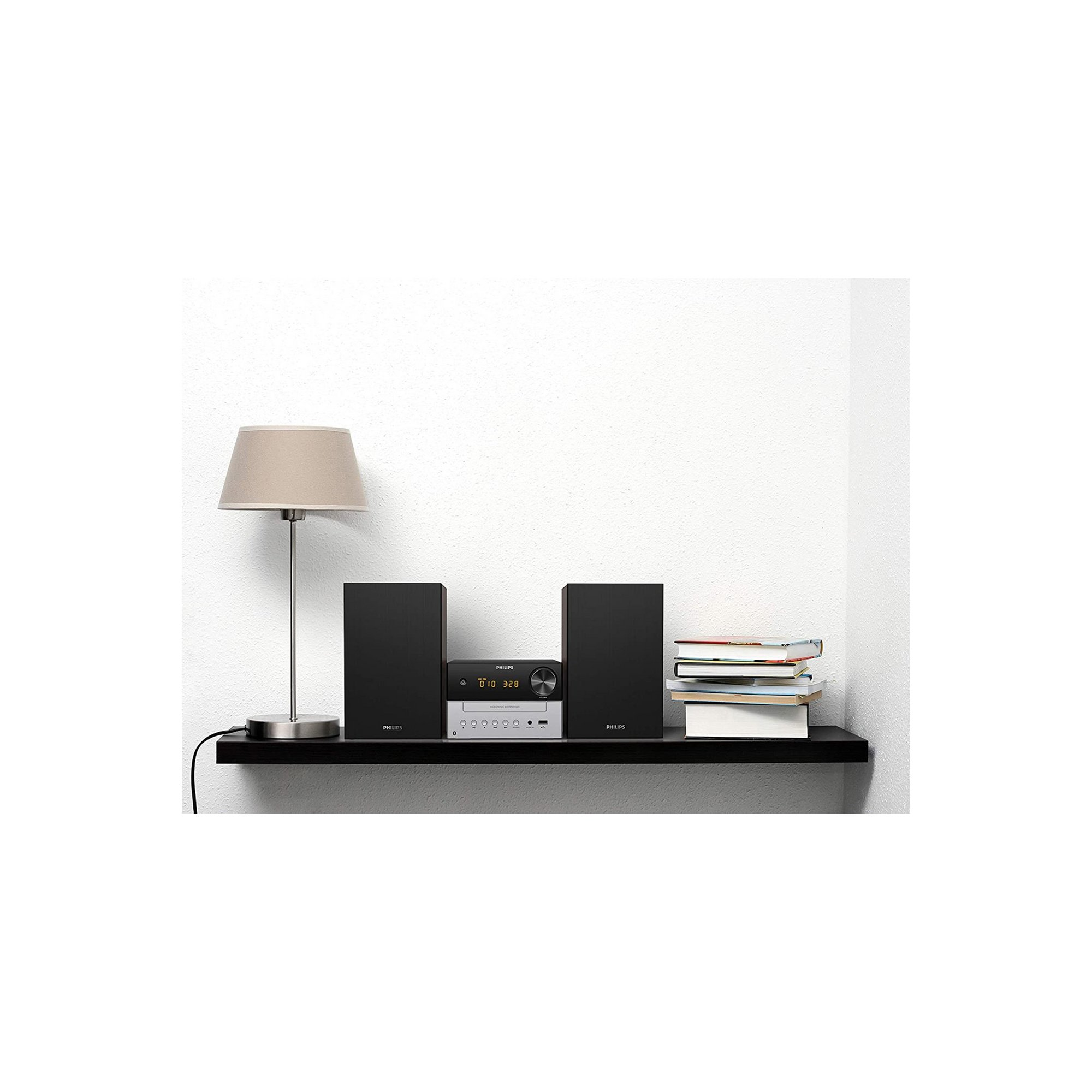 Image of Philips TAM3205 Music System with FM+&#44 Bluetooth&#44 CD and US...