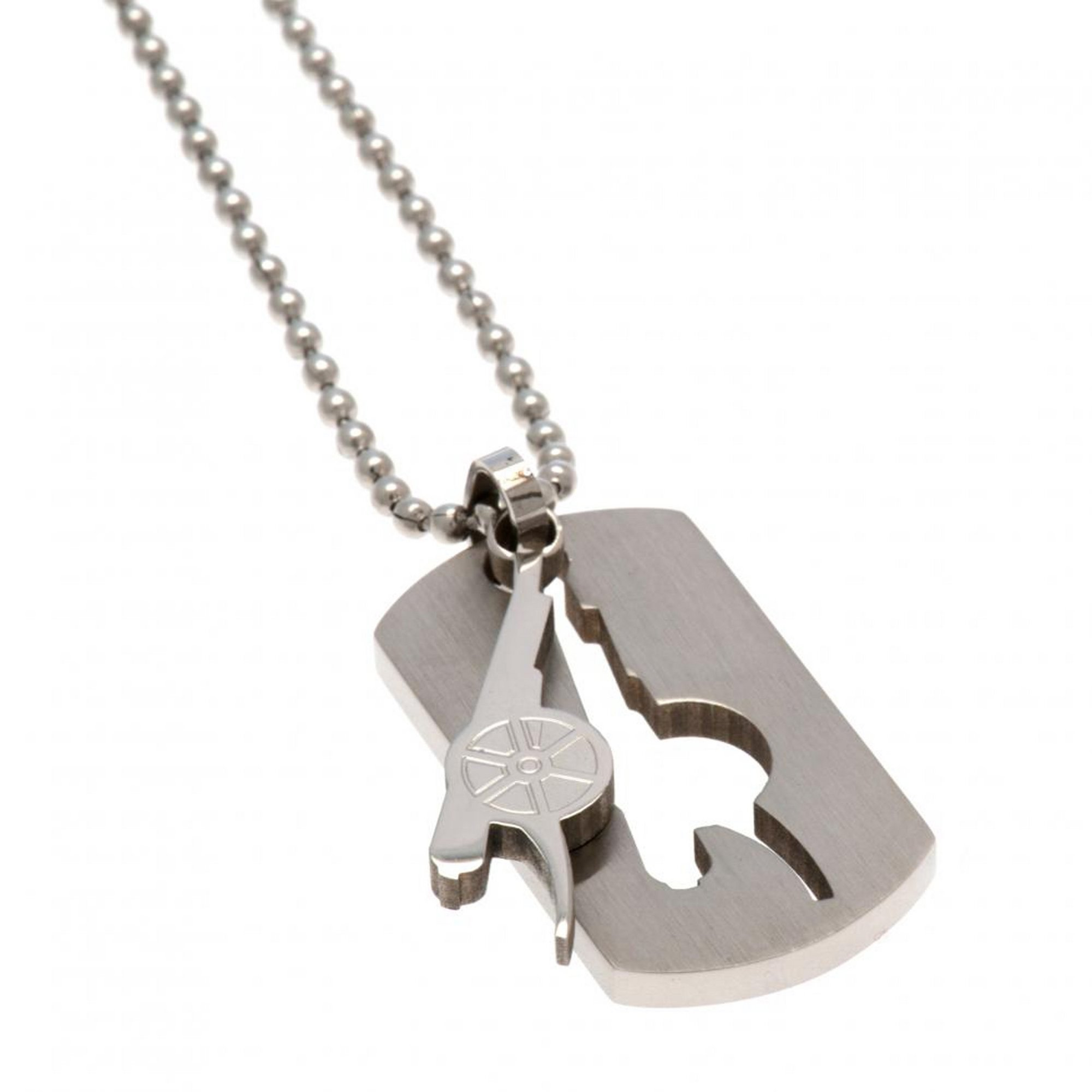 Image of Arsenal FC Stainless Steel Crest Cut Out Dog Tag
